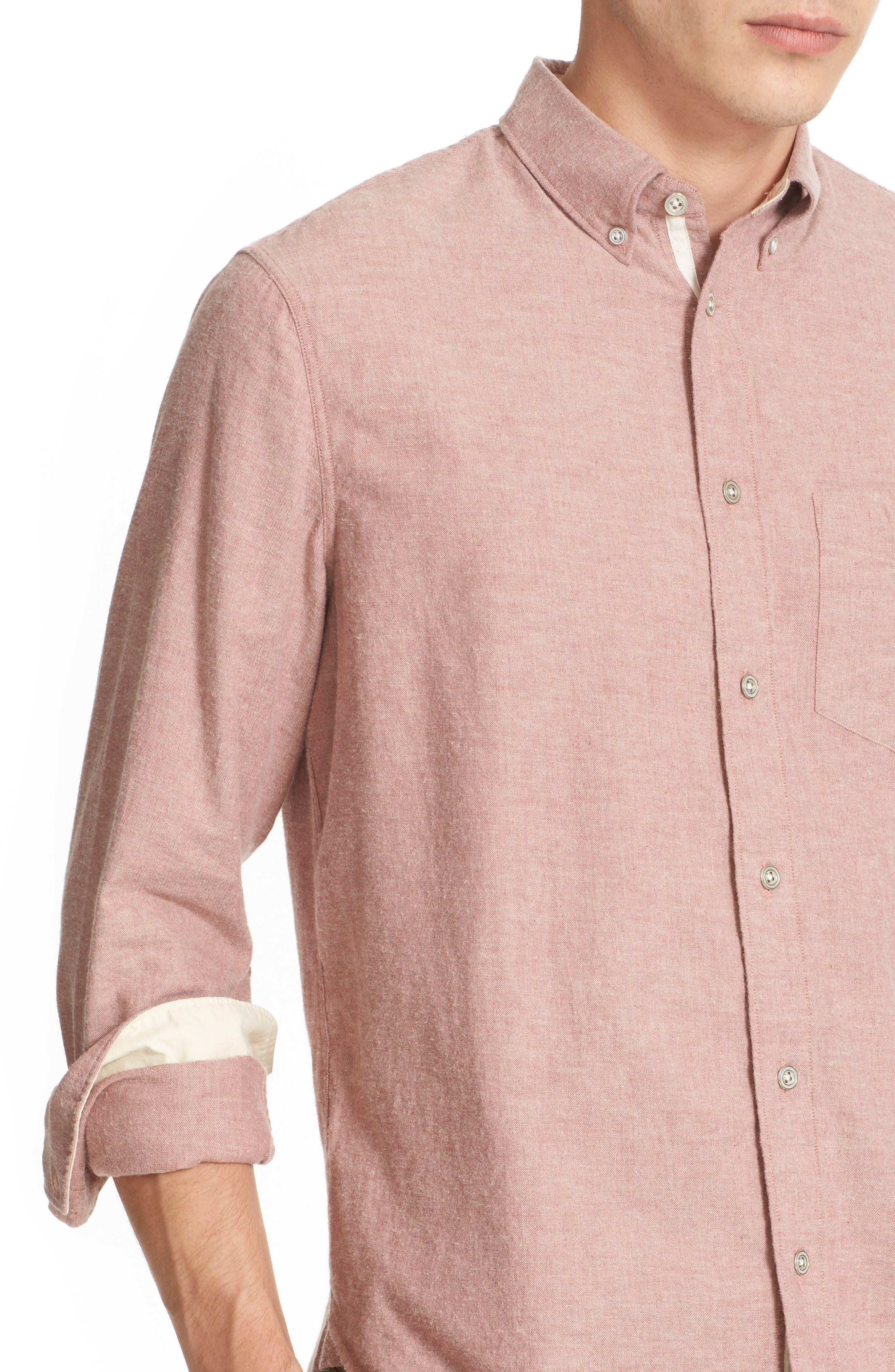 Standard Issue Trim Fit Sport Shirt,                             Alternate thumbnail 2, color,                             Pink