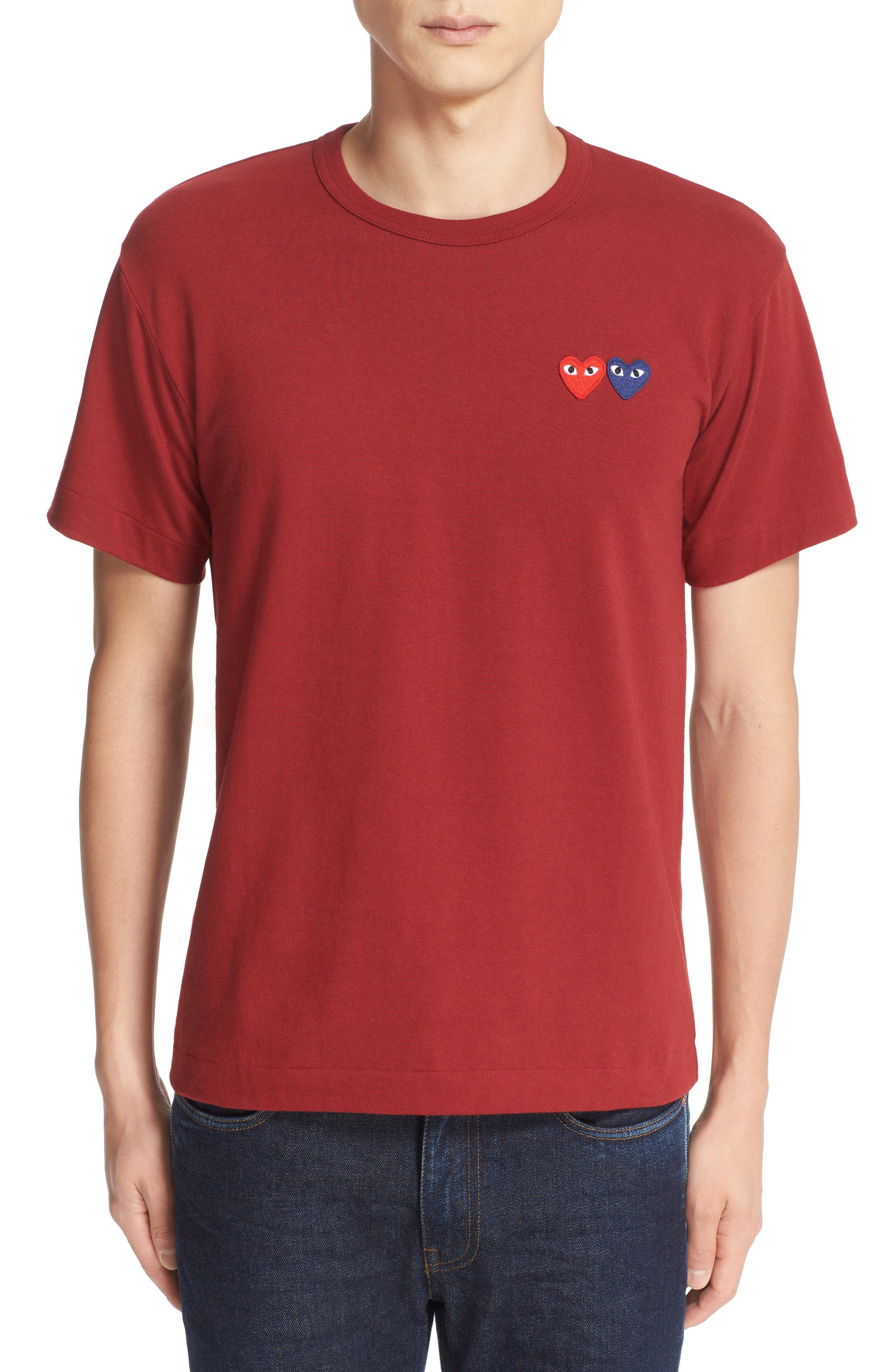 Alternate Image 1 Selected - Comme des Garçons PLAY Twin Hearts Jersey T-Shirt