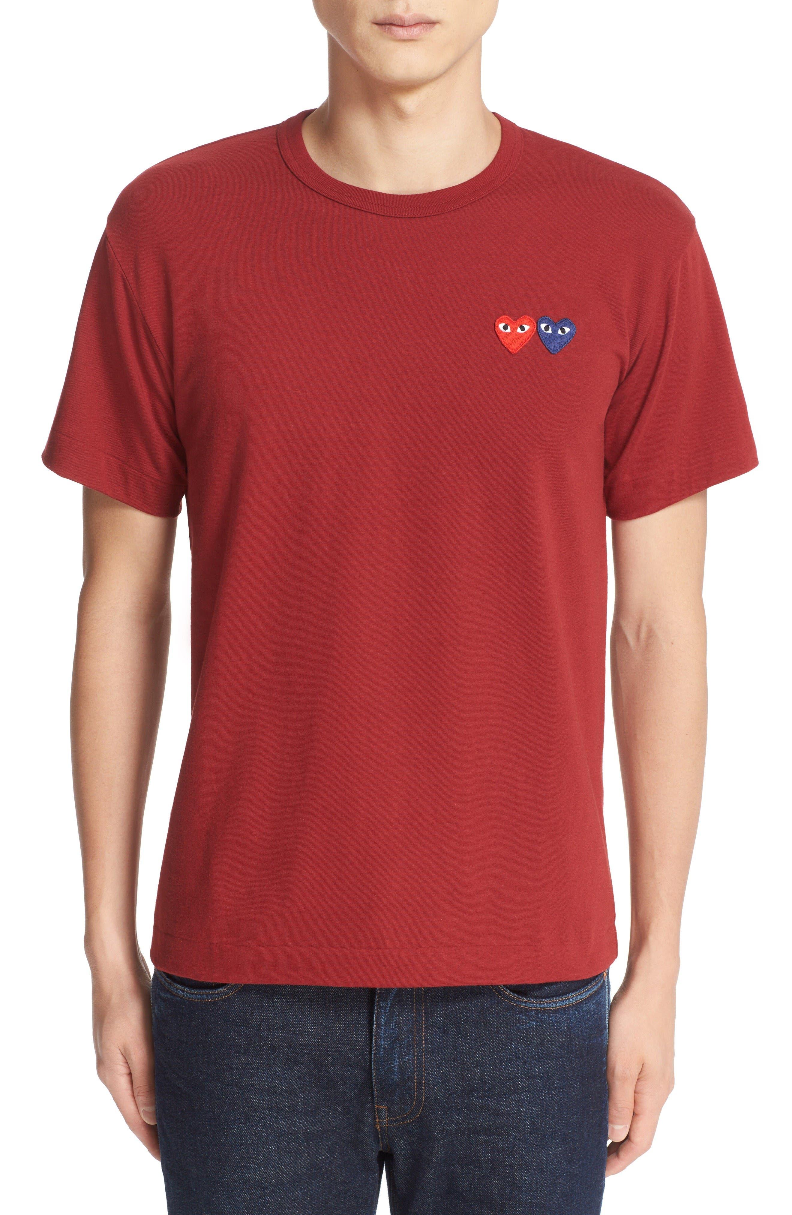 Main Image - Comme des Garçons PLAY Twin Hearts Jersey T-Shirt