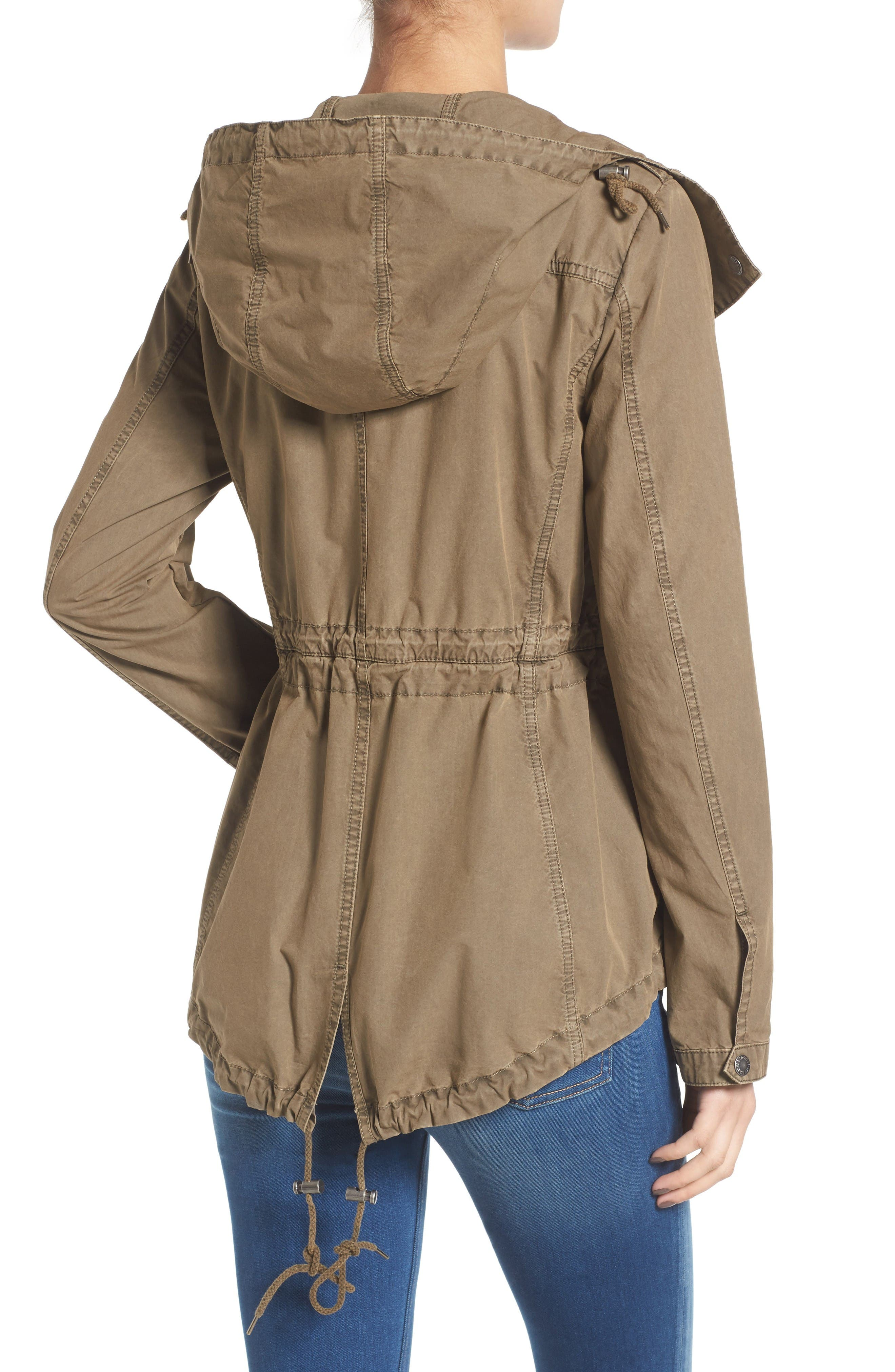 Parachute Cotton Hooded Utility Jacket,                             Alternate thumbnail 3, color,                             Khaki