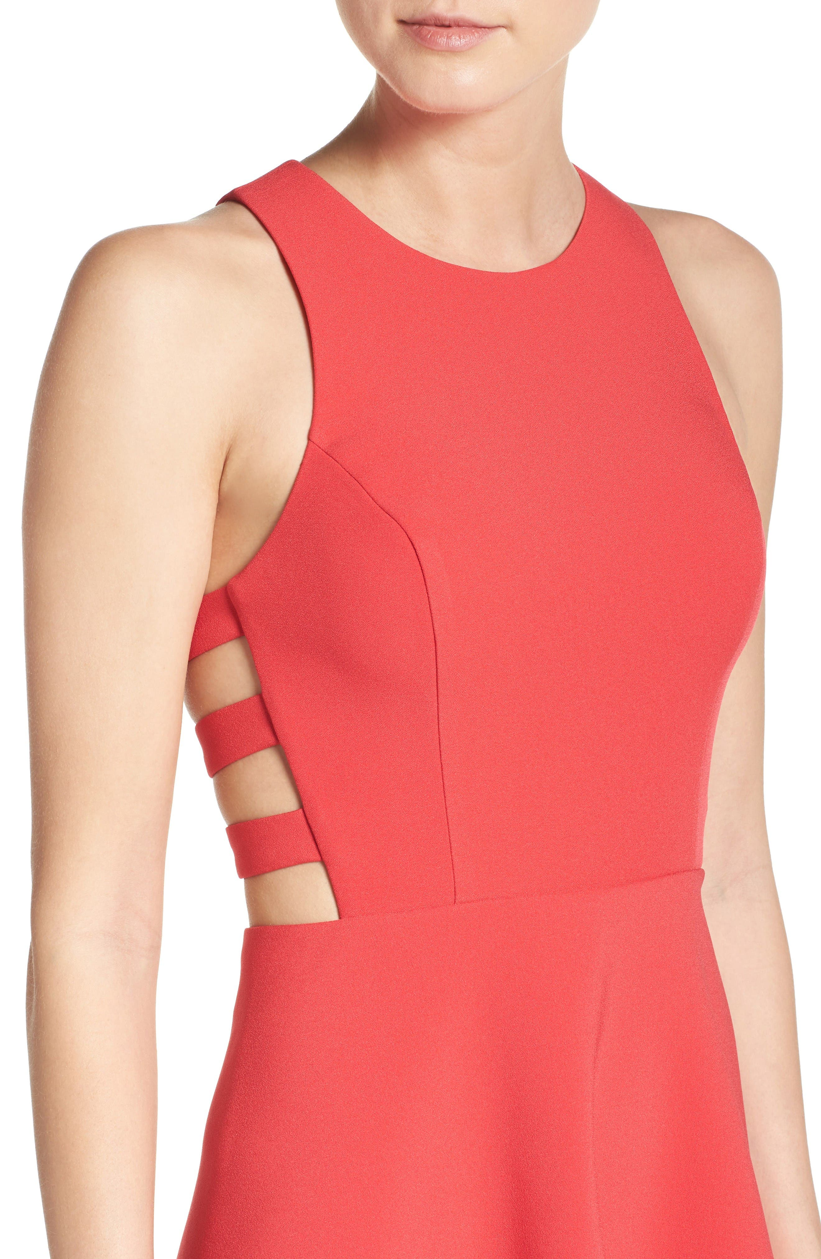 Alternate Image 4  - BCBGMAXAZRIA 'Rosalyn' Cutout High/Low Crepe Gown
