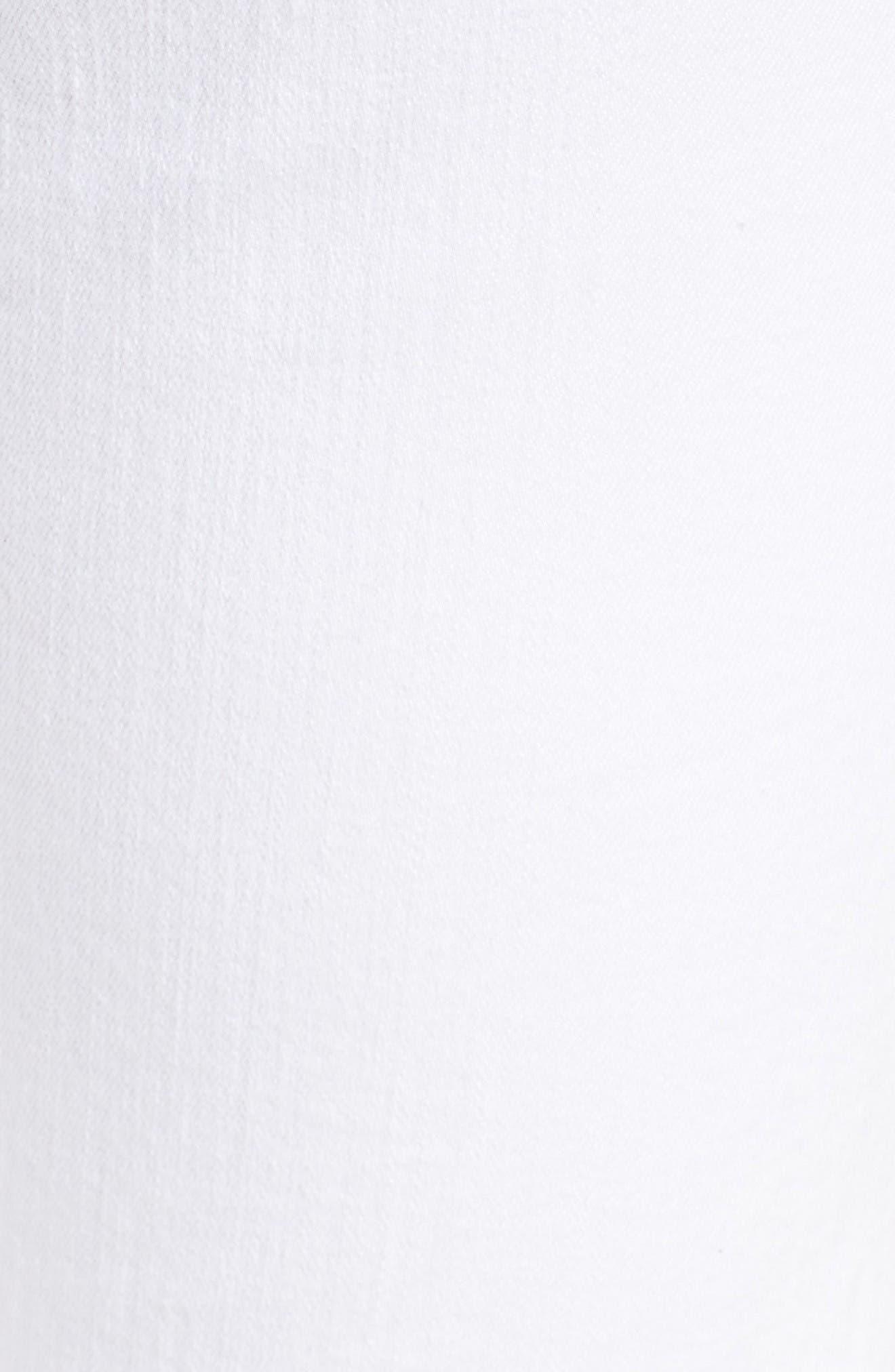 Roxanne Ankle Straight Leg Jeans,                             Alternate thumbnail 6, color,                             White Fashion