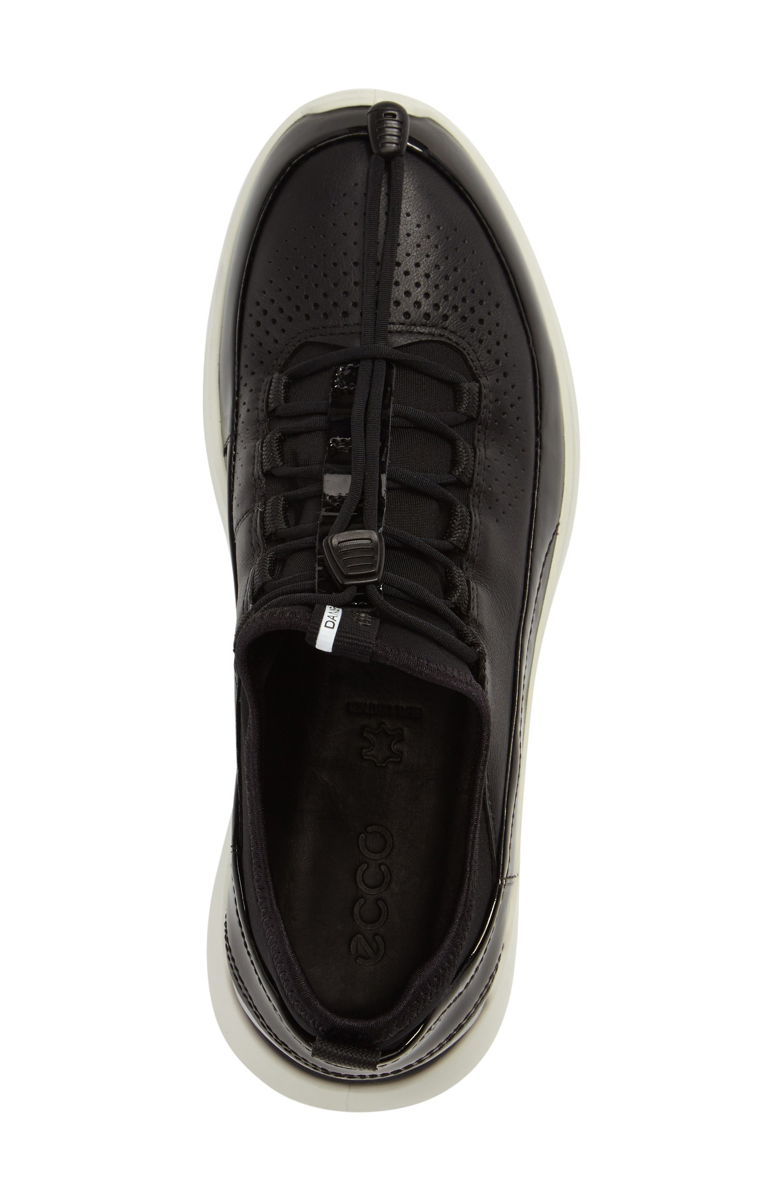 Soft 5 Sneaker,                             Alternate thumbnail 3, color,                             Black Leather