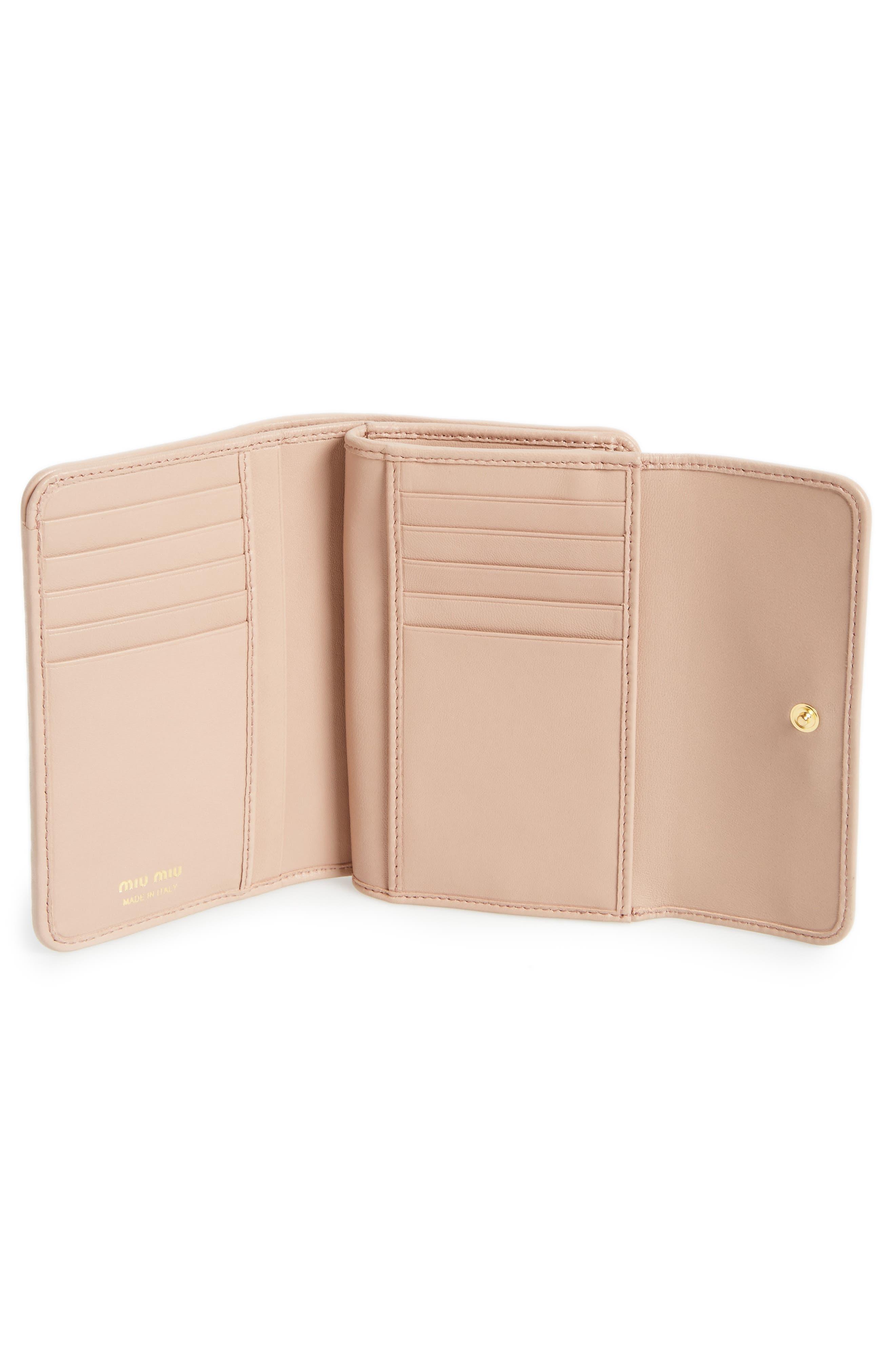 Alternate Image 2  - Miu Miu Matelassé Leather French Wallet