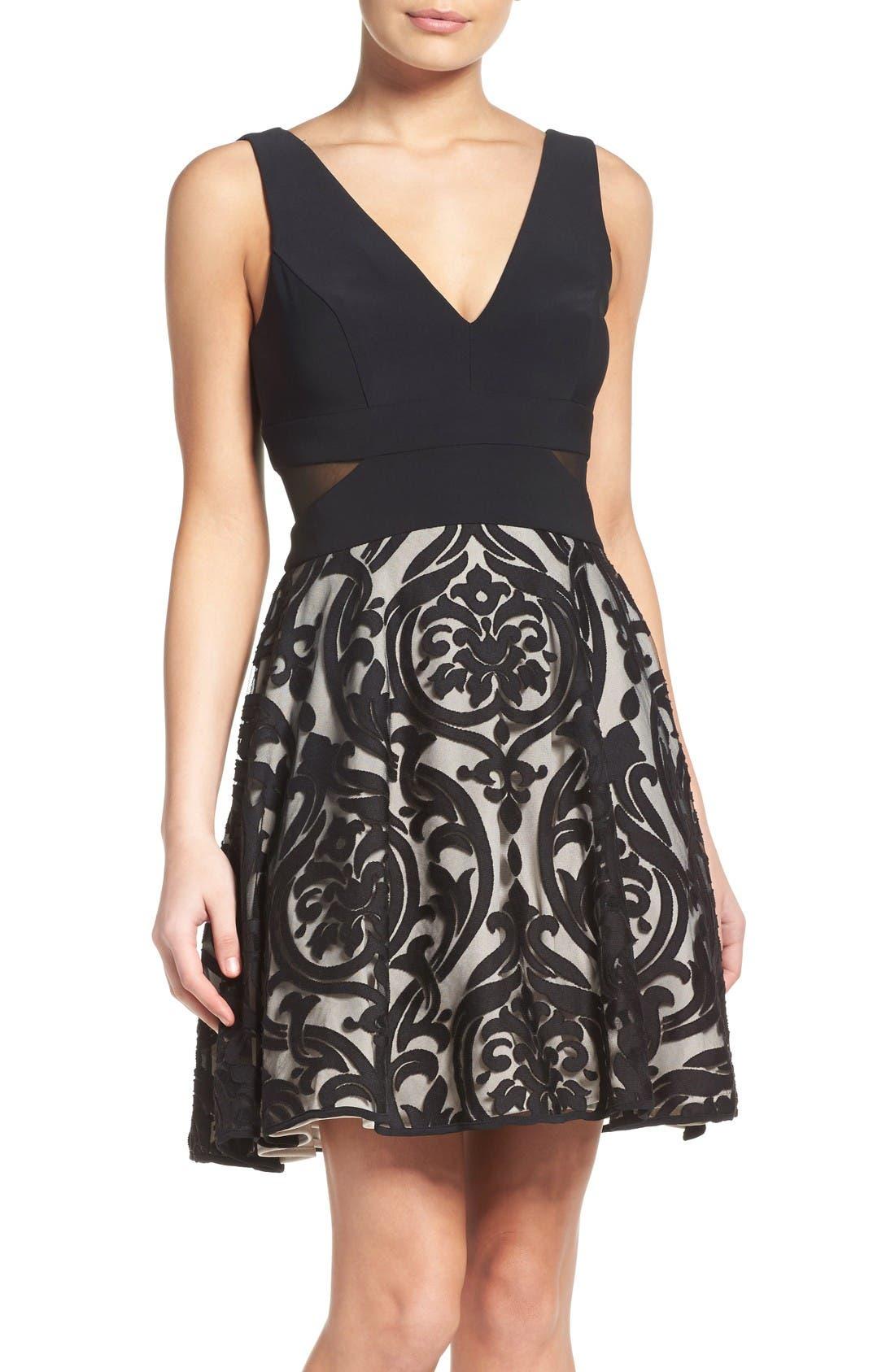 Xscape Fit & Flare Dress