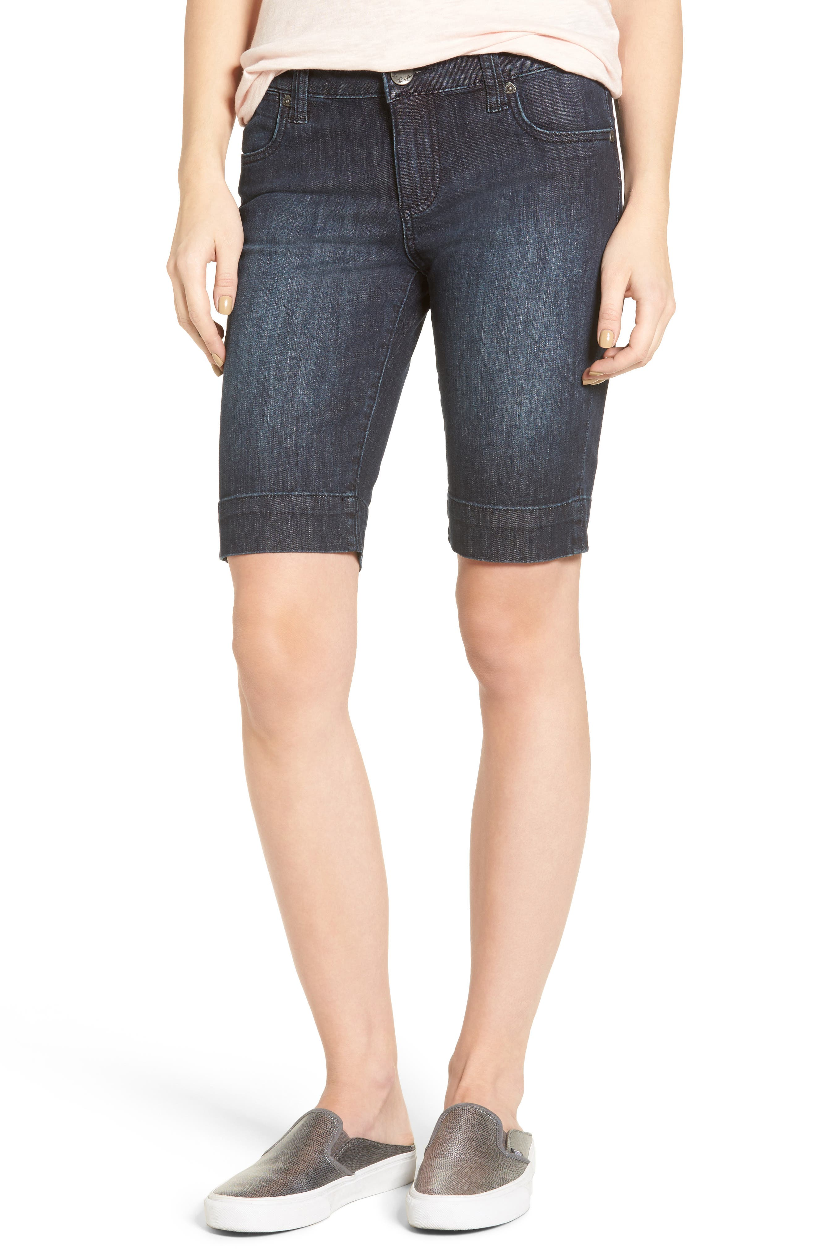 Main Image - KUT from the Kloth 'Natalie' Twill Bermuda Shorts