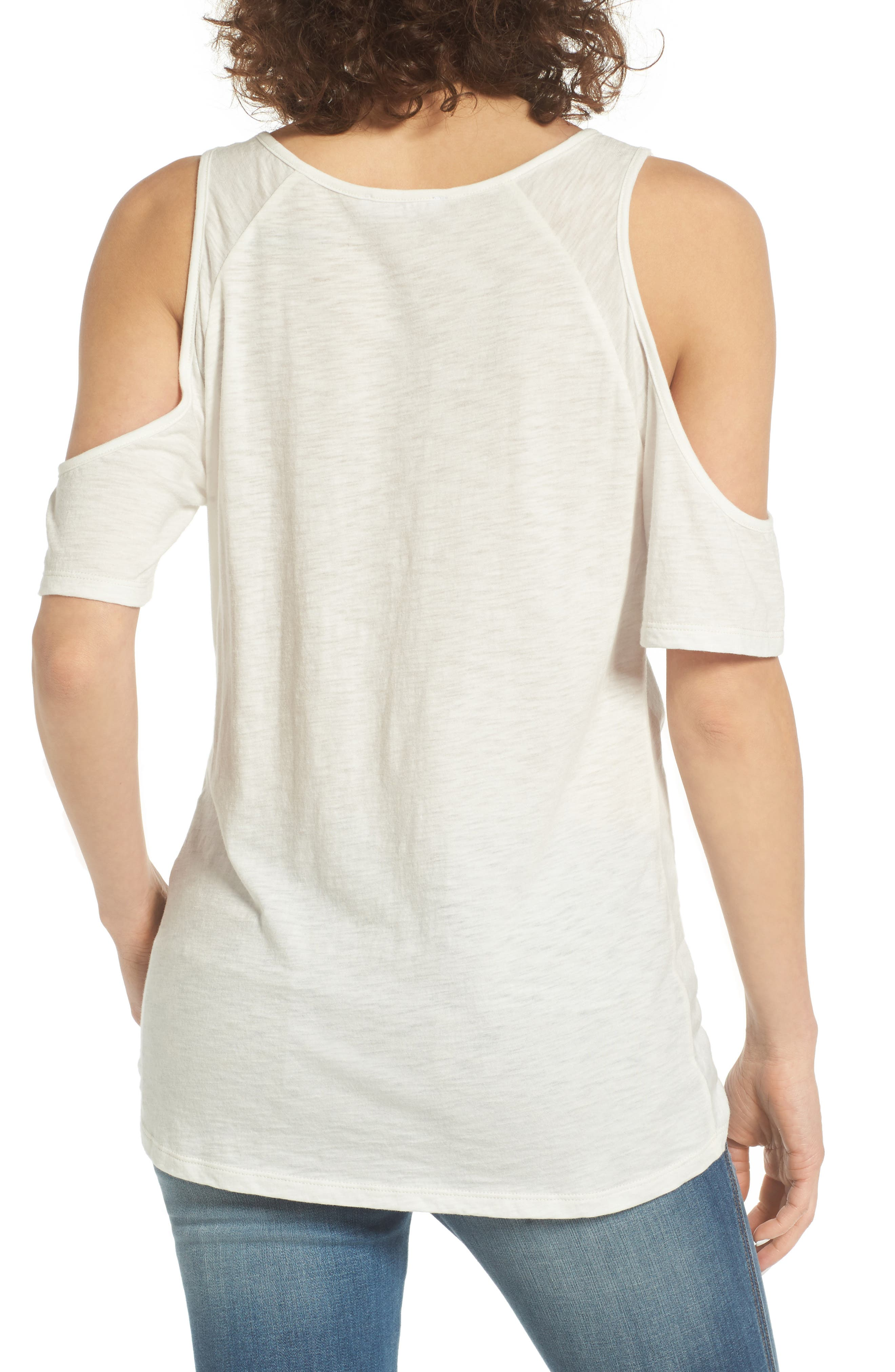 Alternate Image 2  - BP. Twist Front Cold Shoulder Tee