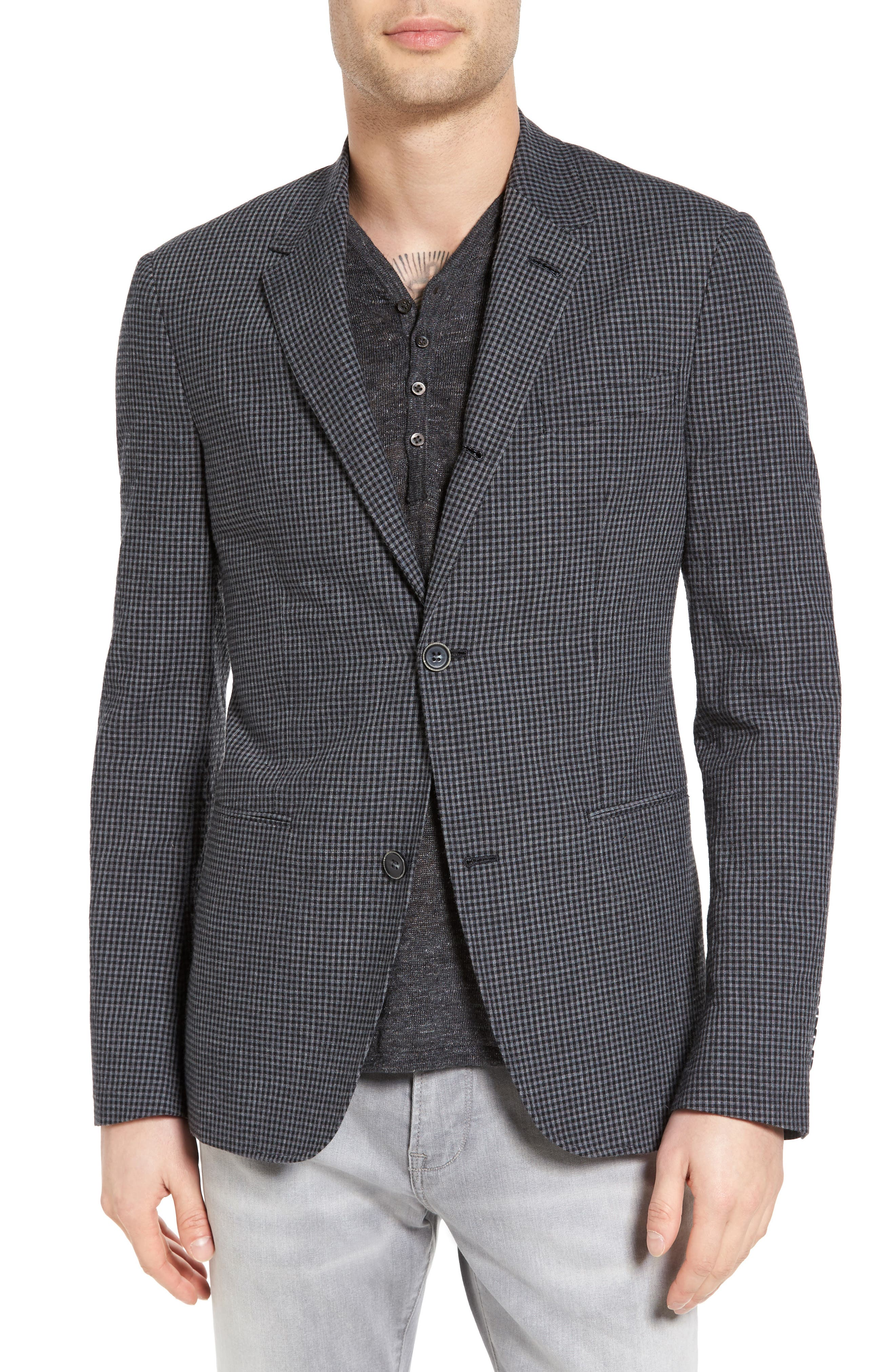 John Varvatos Collection Thompson Four-Button Convertible Collar Sport Coat