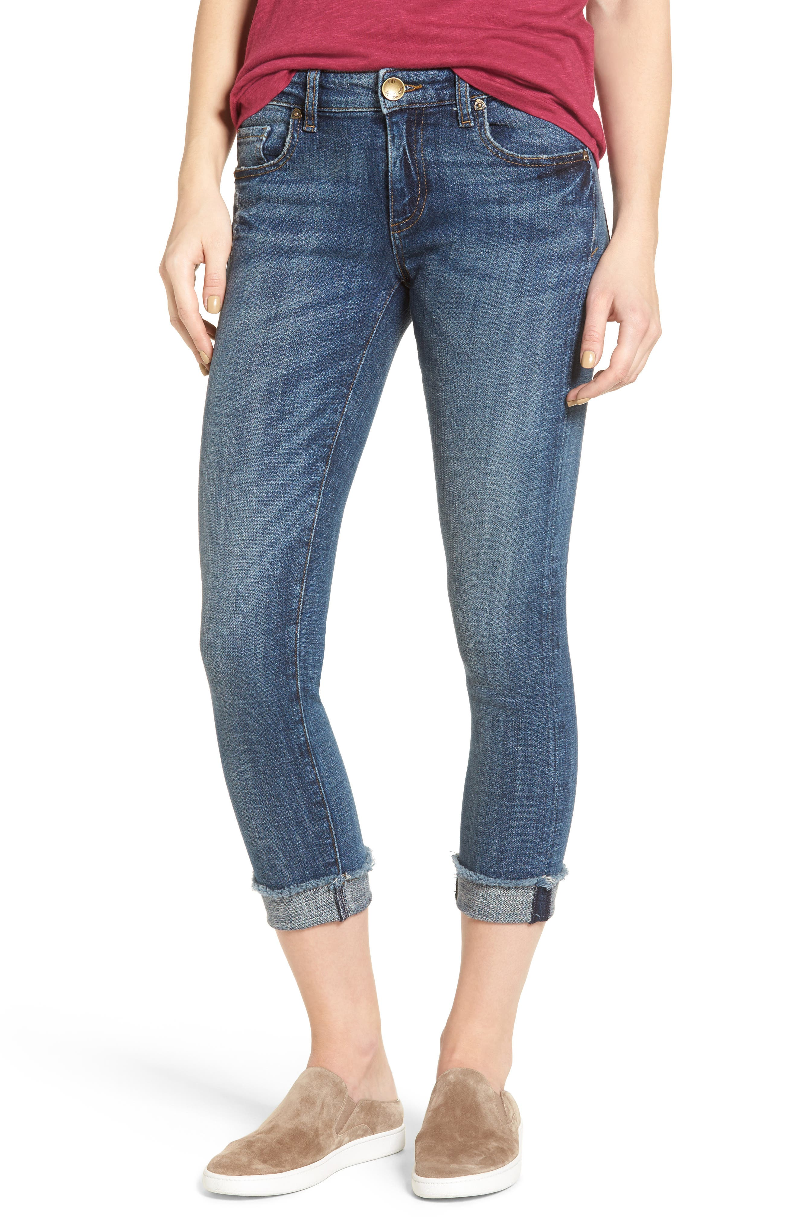 Alternate Image 1 Selected - KUT from the Kloth Amy Stretch Crop Skinny Jeans (Dominant)