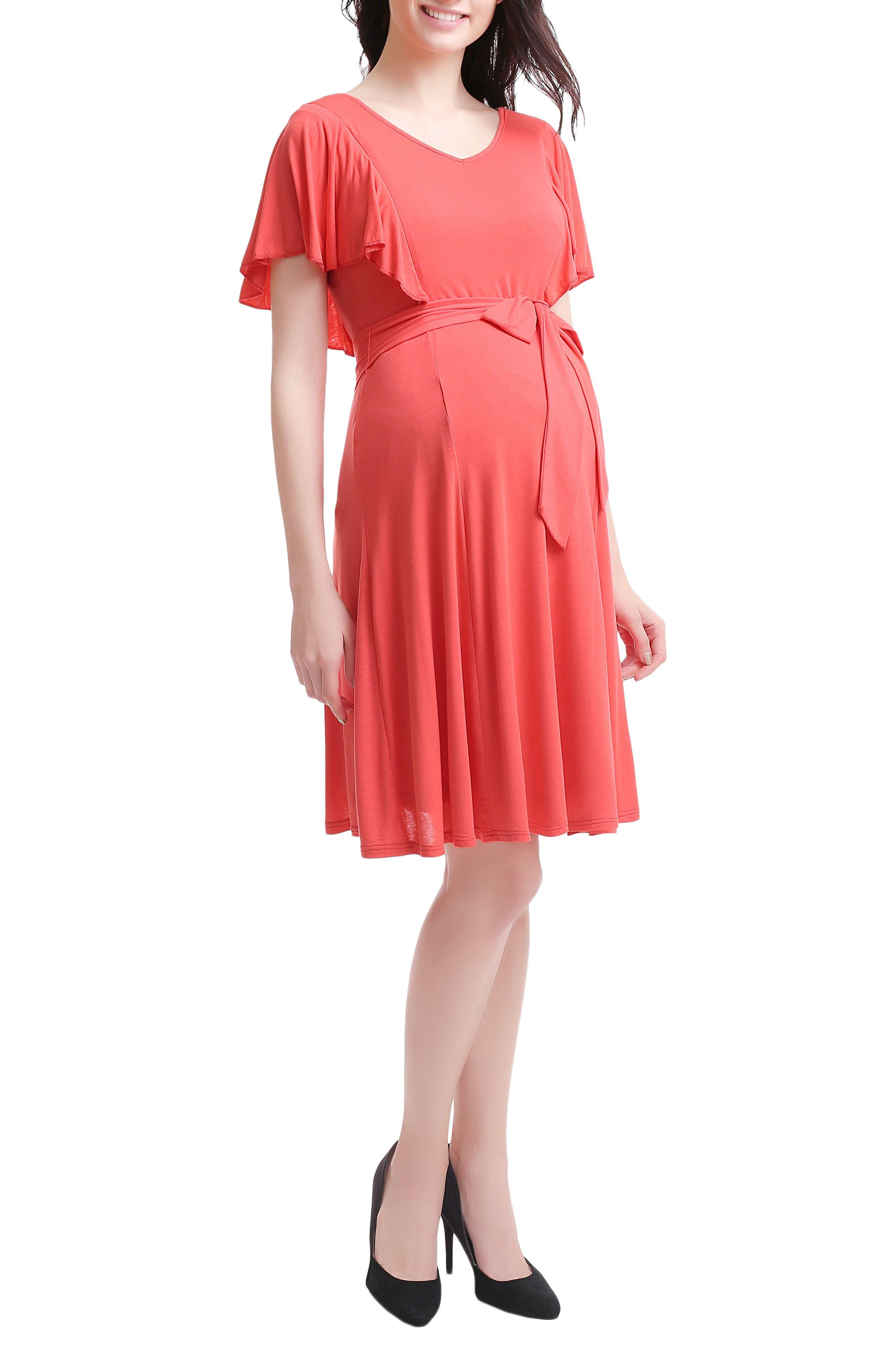 Alternate Image 3  - Kimi & Kai Rhea Tie Maternity/Nursing Skater Dress