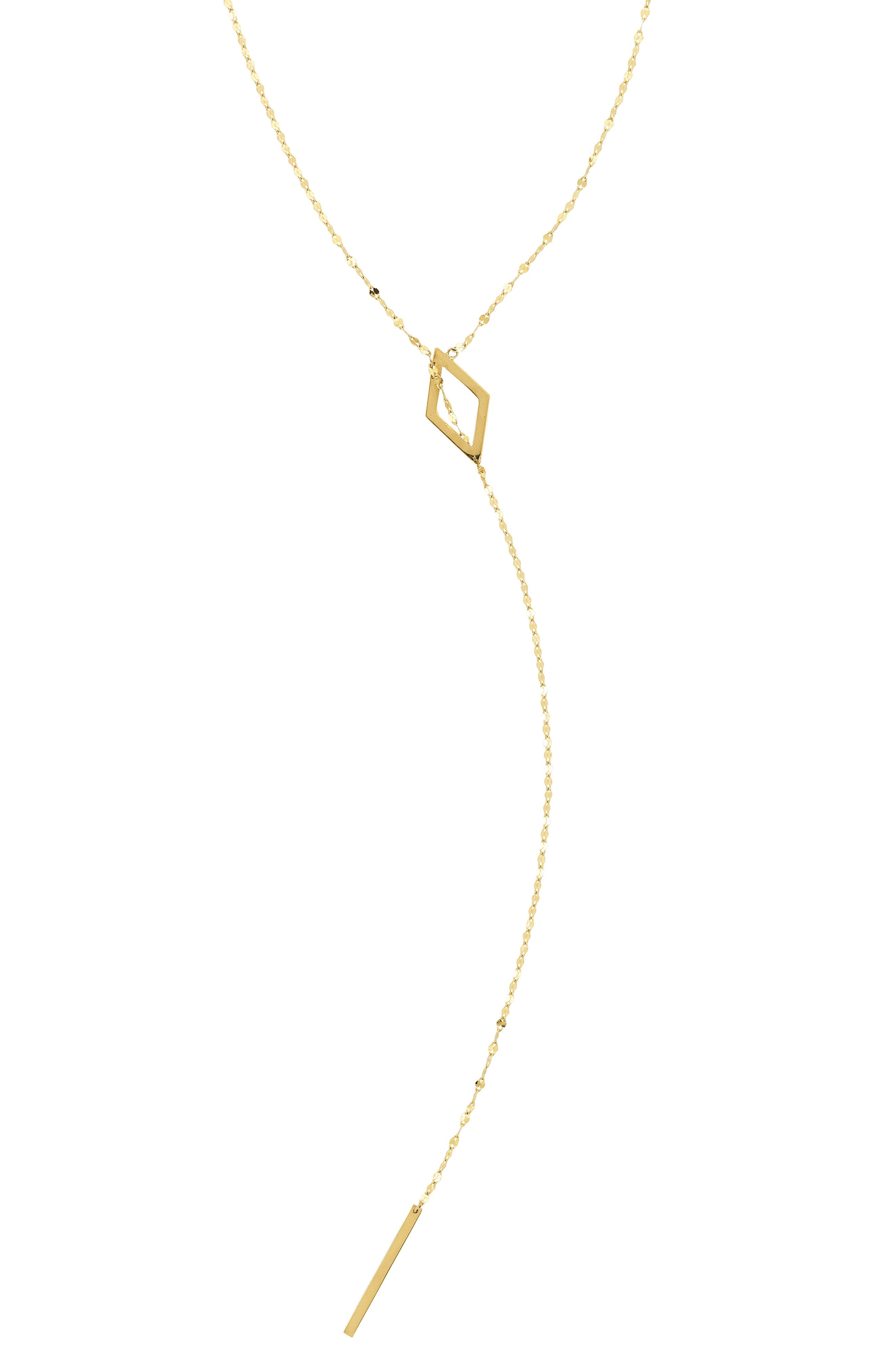 Lariat Necklace,                         Main,                         color, Yellow Gold