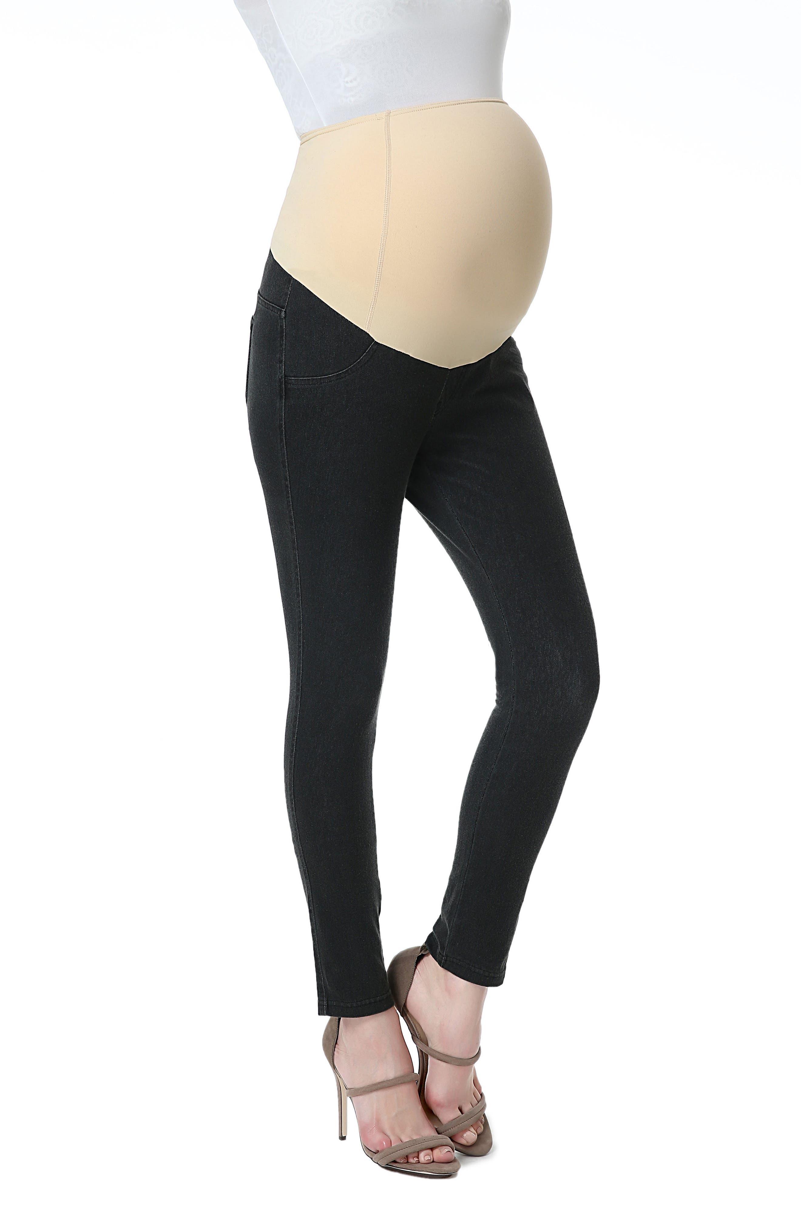Kimi & Kai Lenora Maternity Leggings,                         Main,                         color, Gray