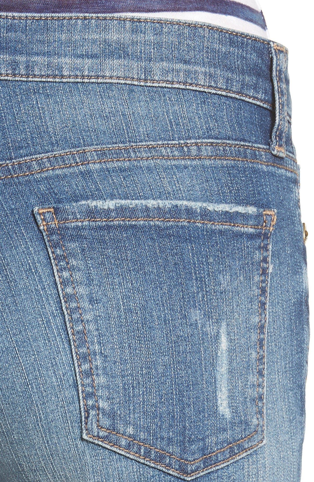 Alternate Image 4  - KUT from the Kloth Catherine Distressed Denim Boyfriend Shorts