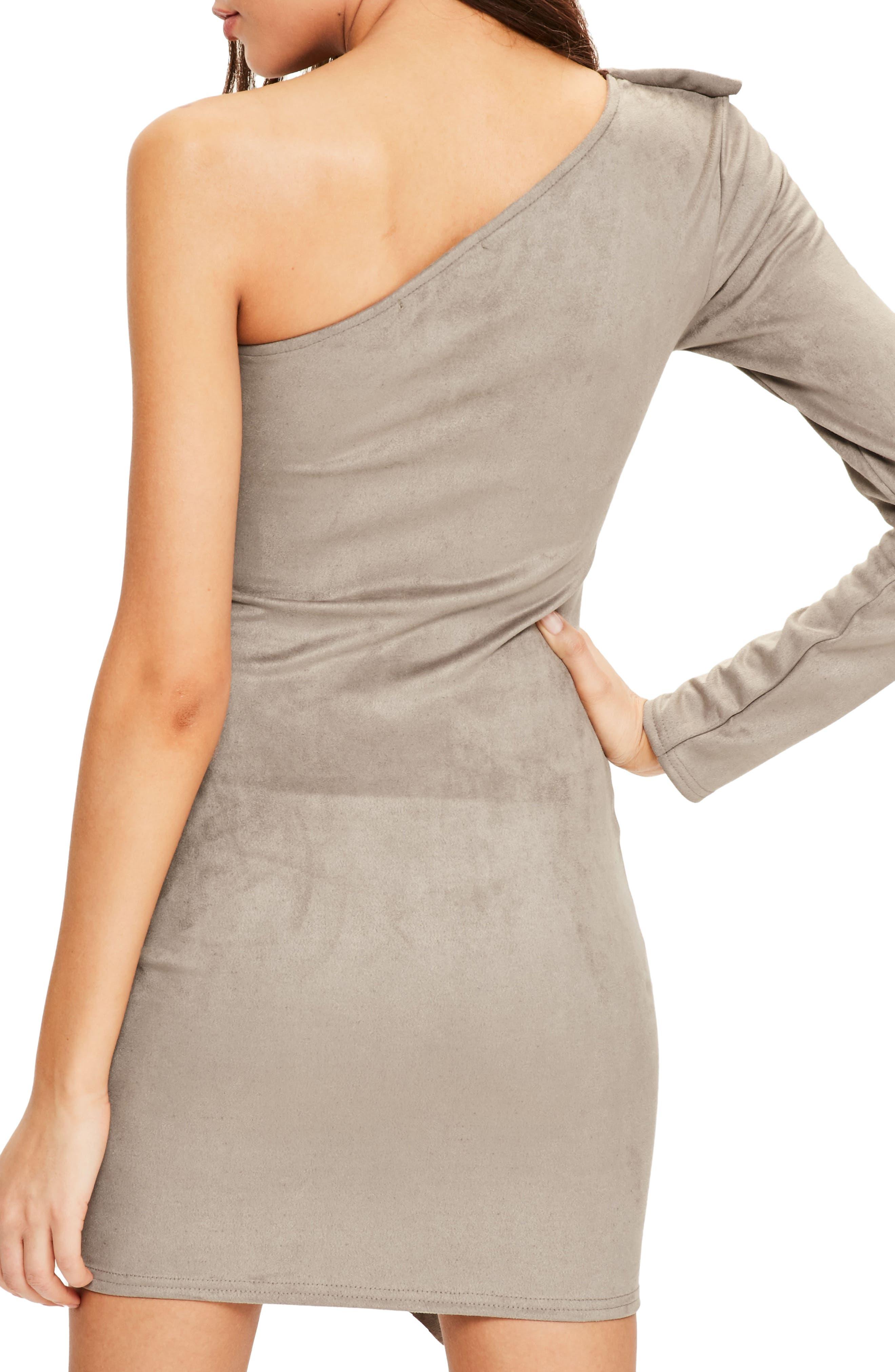 Alternate Image 3  - Missguided One-Shoulder Suede Minidress