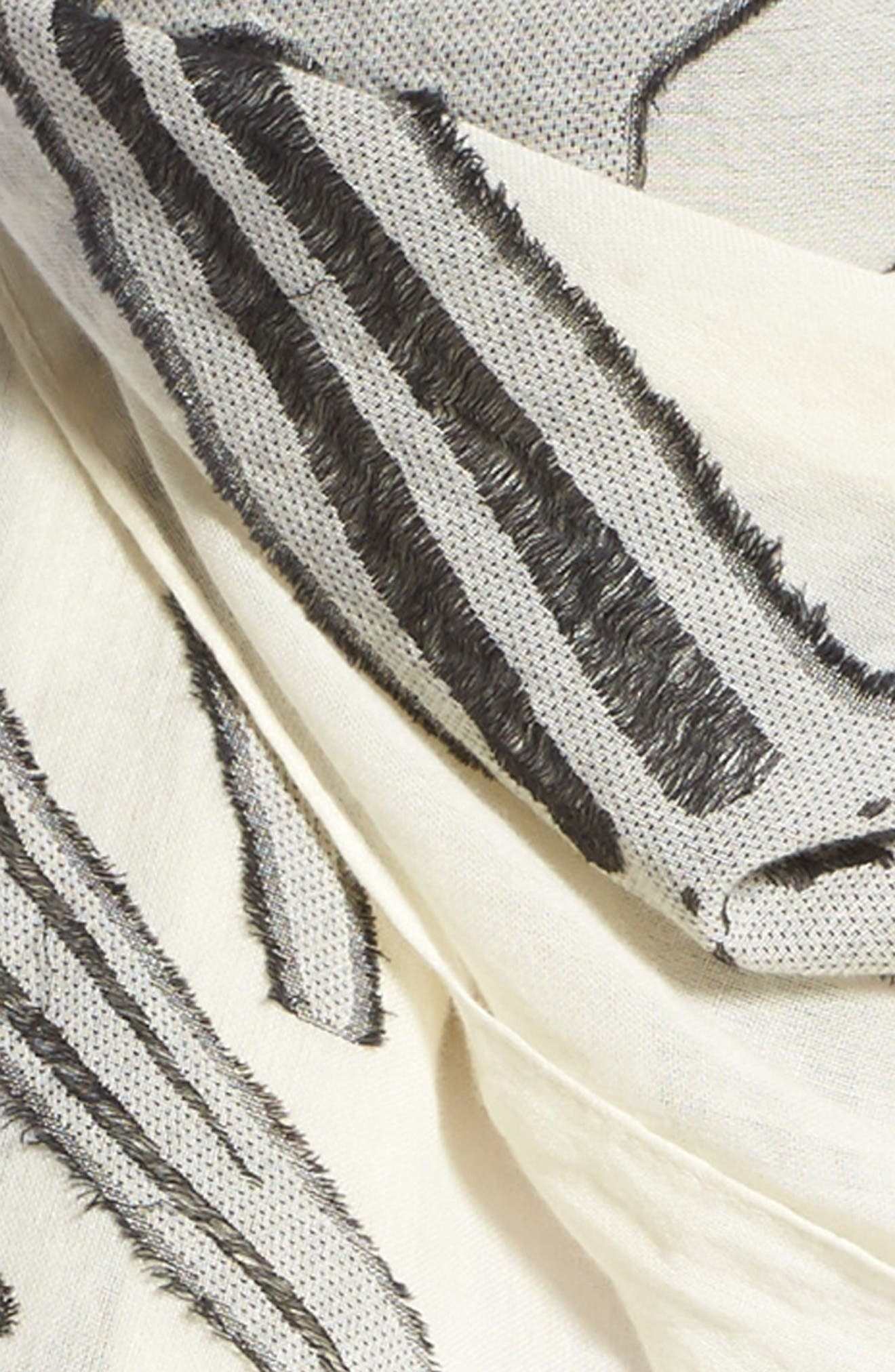 dagger print scarf,                             Alternate thumbnail 3, color,                             Ivory Multi