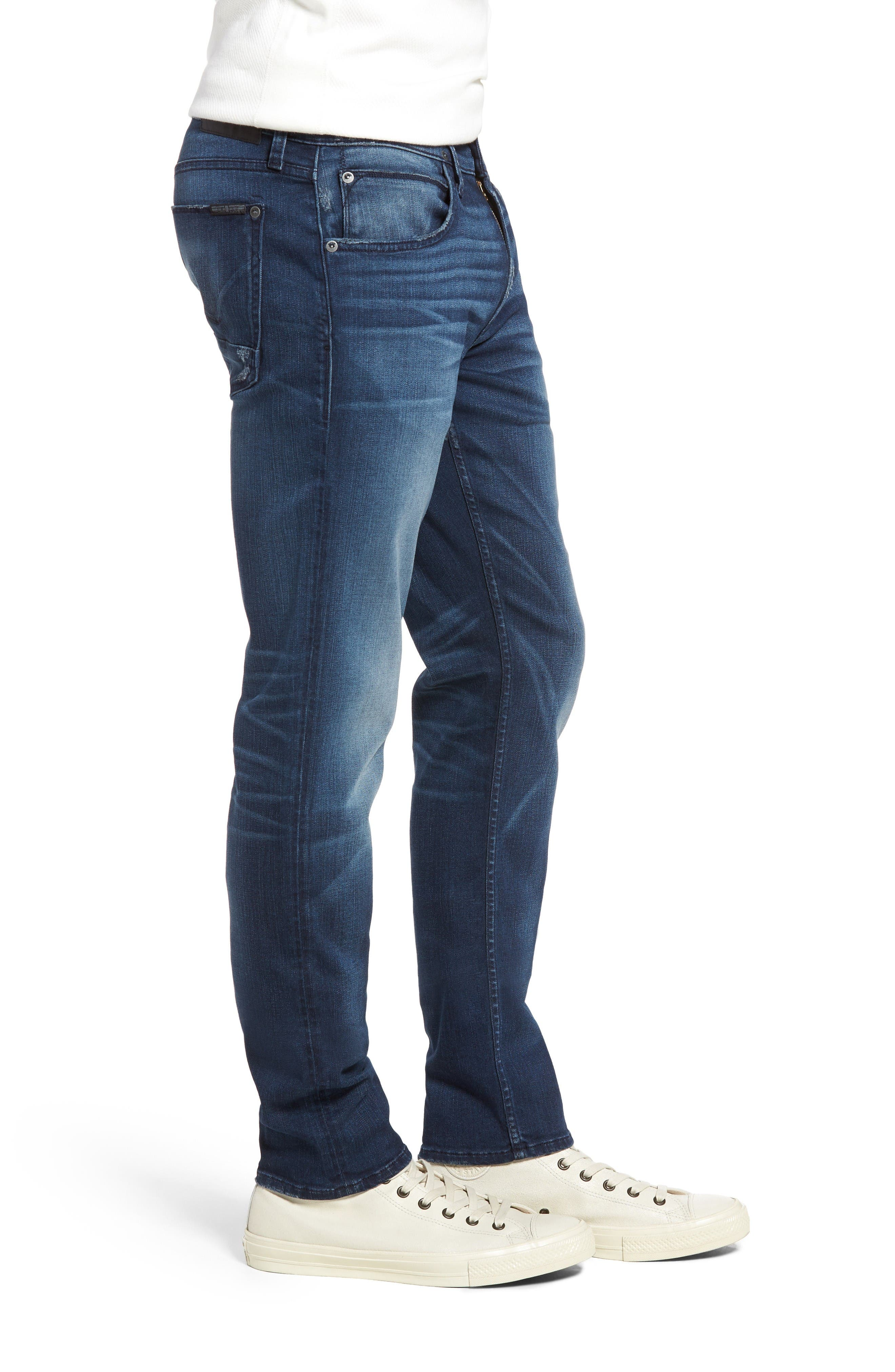 Blake Slim Fit Jeans,                             Alternate thumbnail 3, color,                             Napoleon Blue