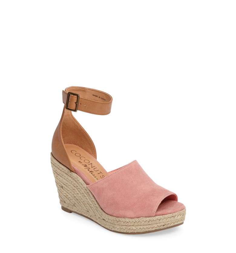 Flamingo Wedge Sandal,                         Main,                         color, Pink Leather