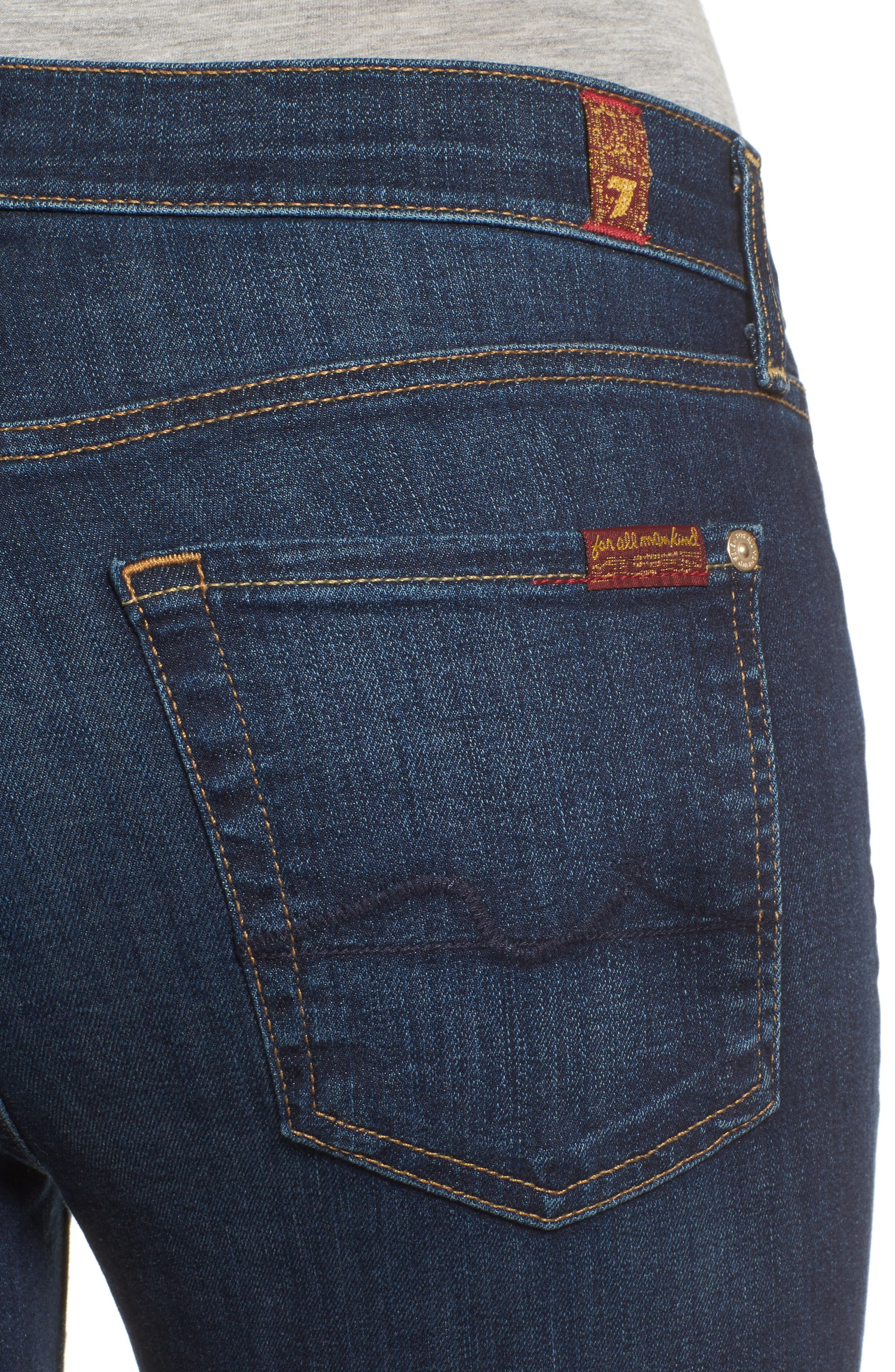 Alternate Image 4  - 7 For All Mankind® Tailorless - Icon Bootcut Jeans (Santiago Canyon) (Short)
