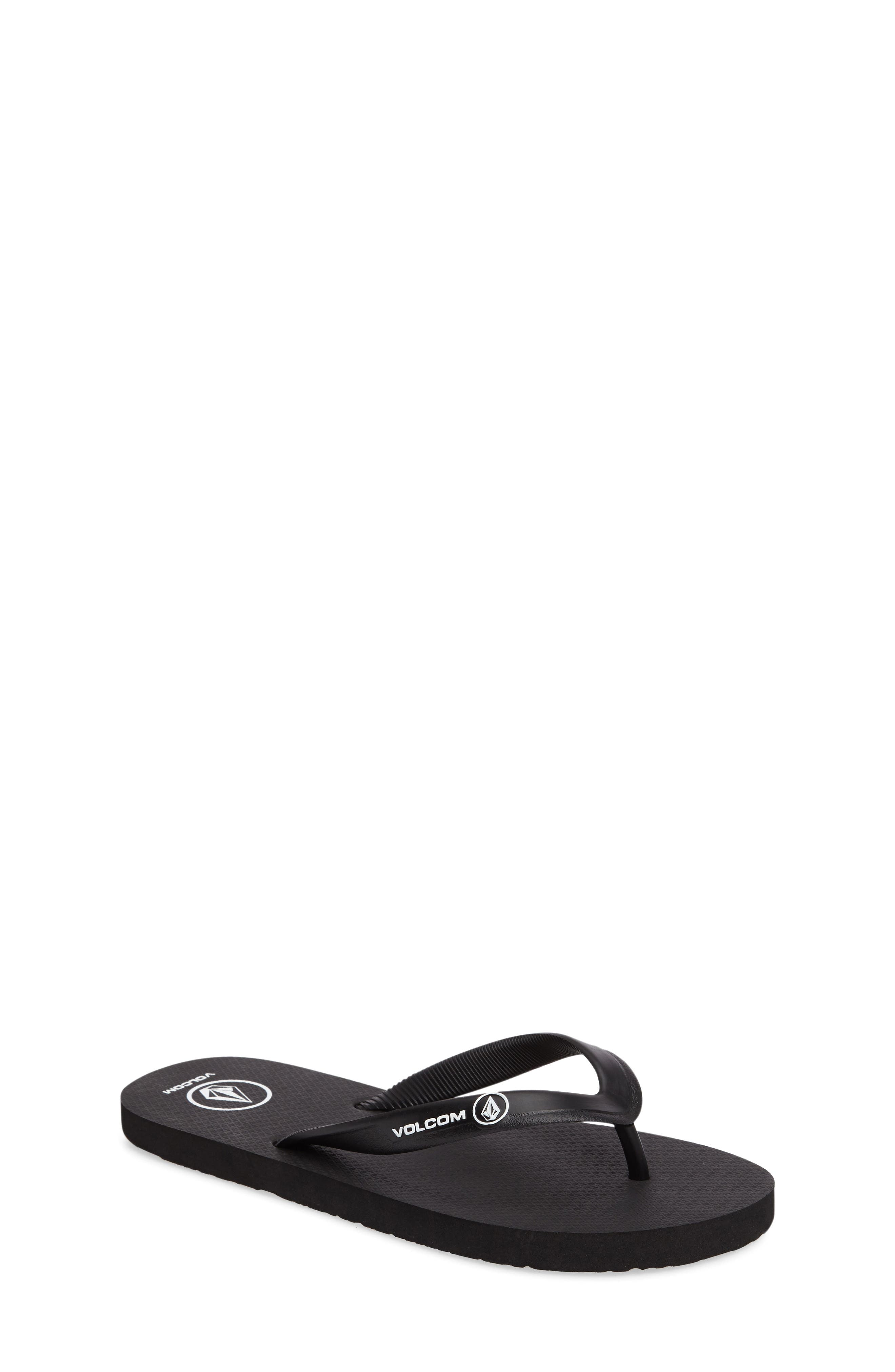 Volcom 'Rocker' Flip Flop (Little Kid & Big Kid)