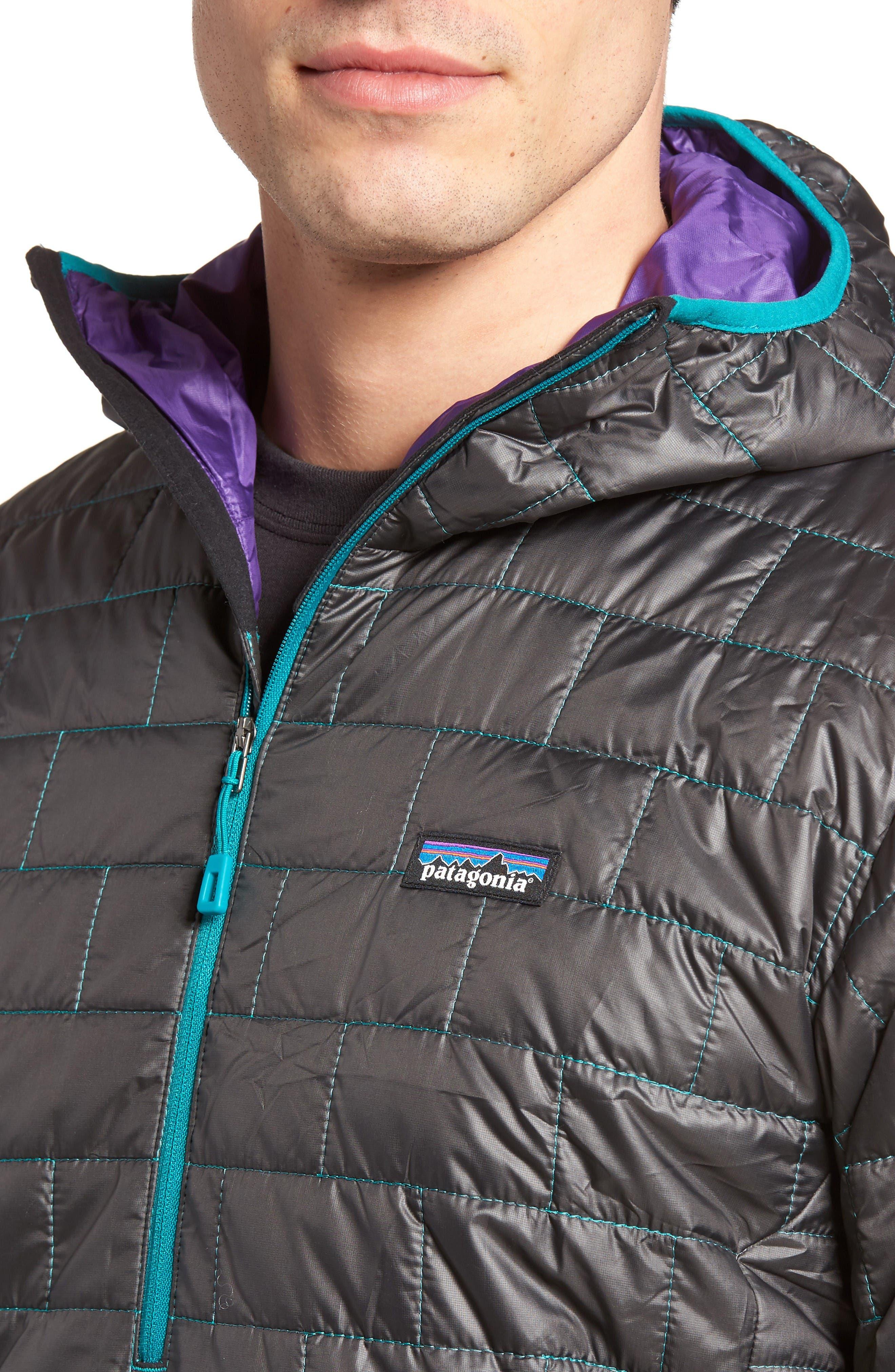 Nano Puff<sup>®</sup> Bivy Regular Fit Water Resistant Jacket,                             Alternate thumbnail 4, color,                             Black