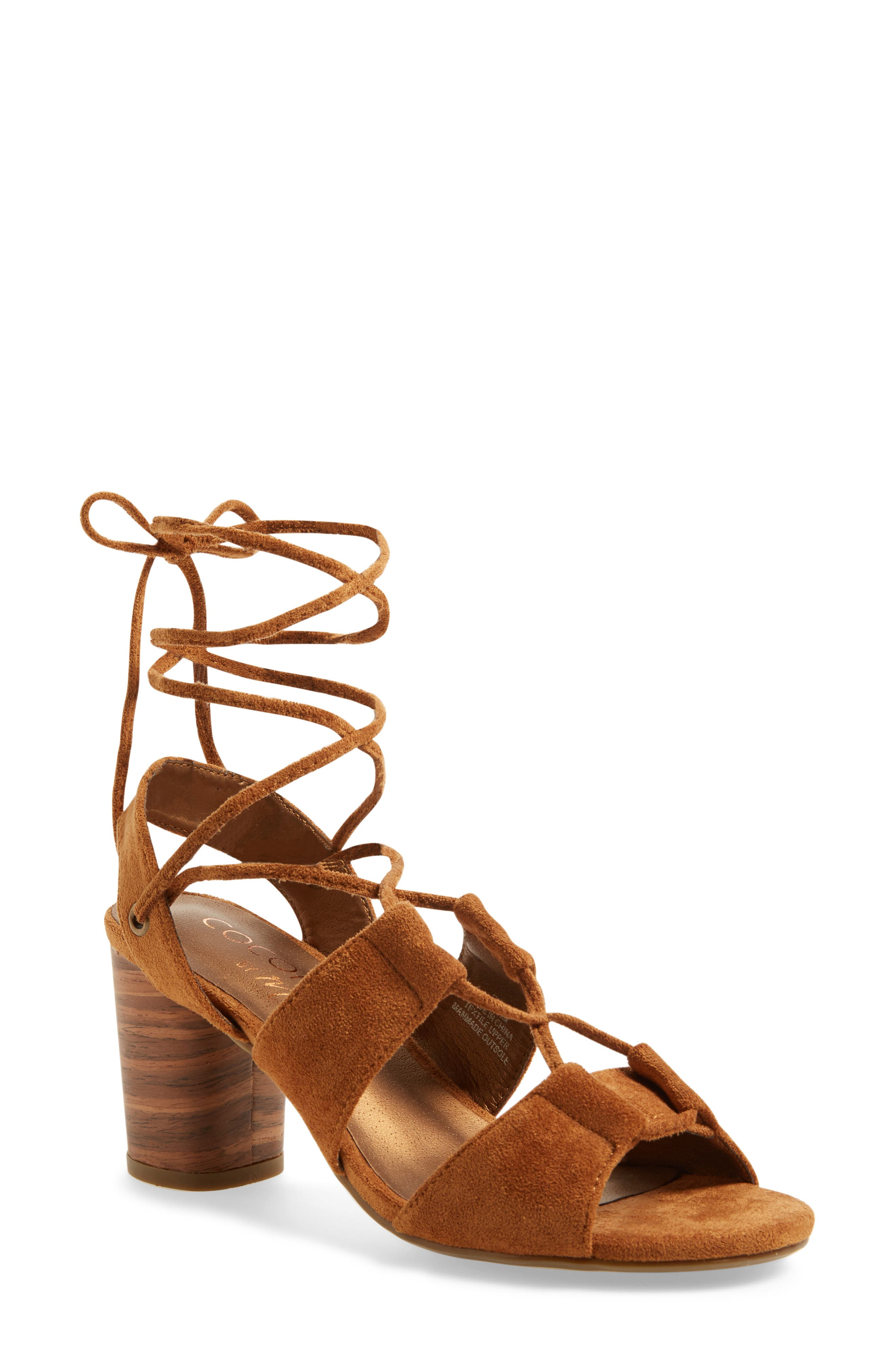 Coconuts by Matisse City Sandal,                             Main thumbnail 1, color,                             Saddle Suede