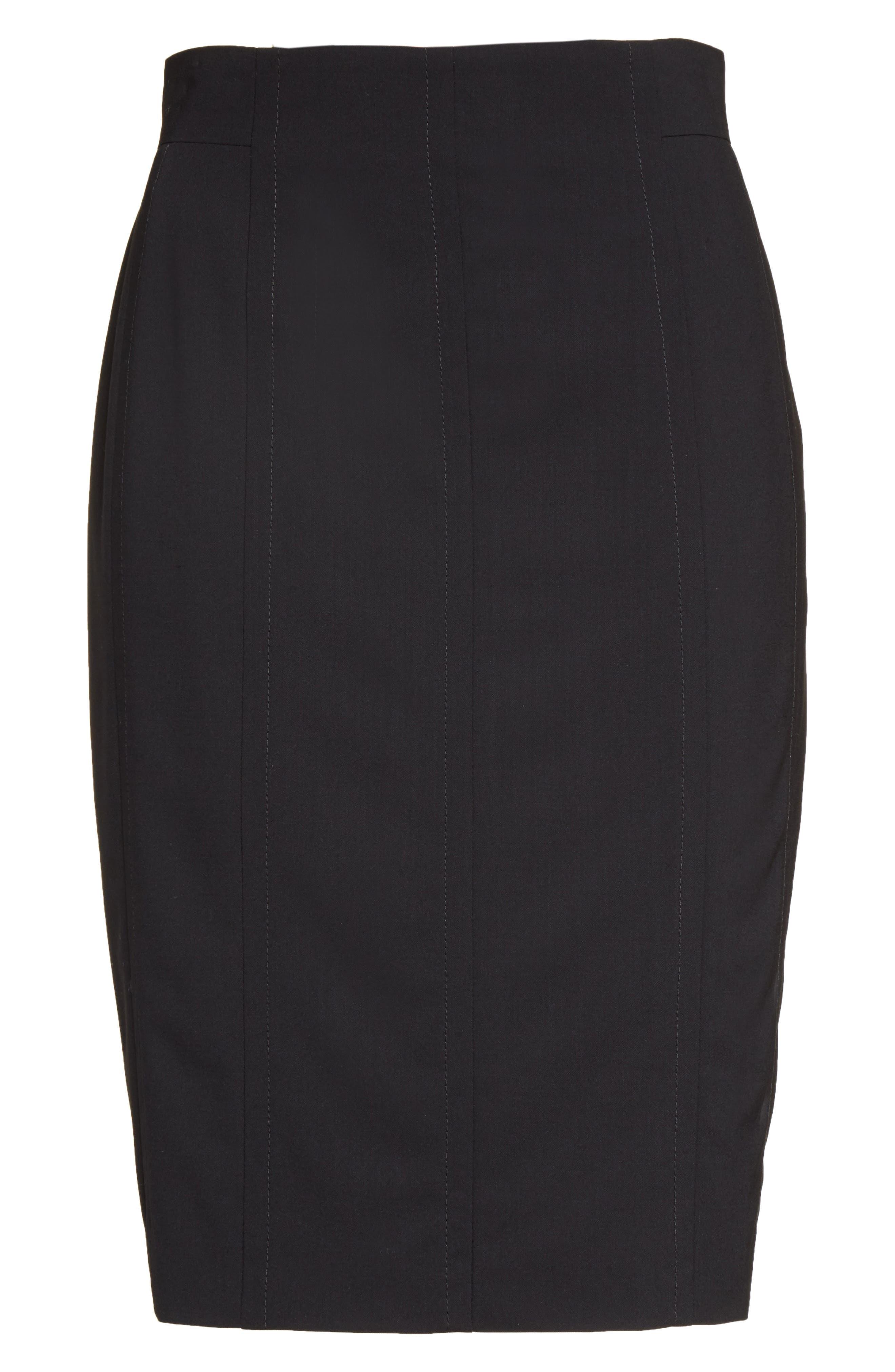 Alternate Image 4  - Akris punto Wool Pencil Skirt
