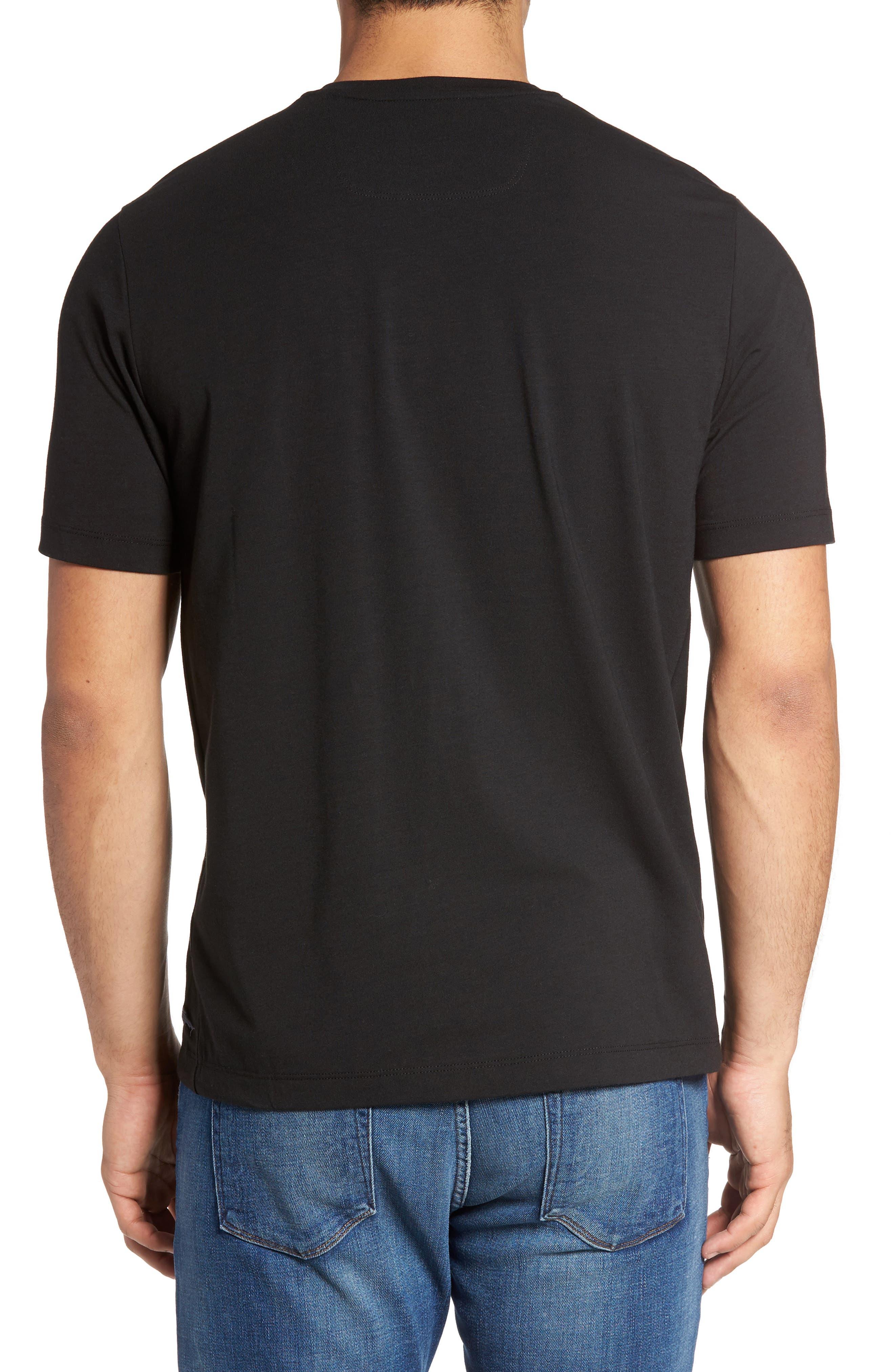 Tropicool T-Shirt,                             Alternate thumbnail 2, color,                             Black