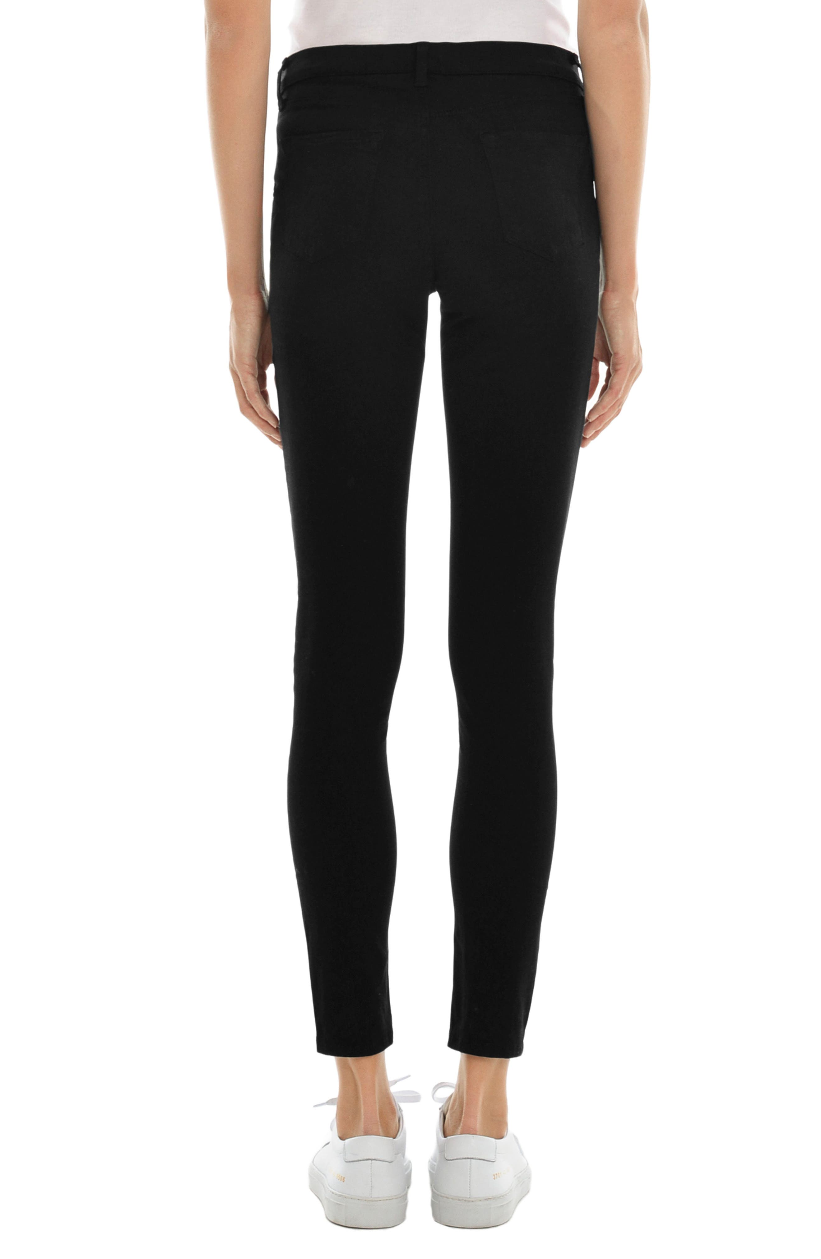 Mama J Luxe Sateen Maternity Skinny Jeans,                             Alternate thumbnail 2, color,                             Black
