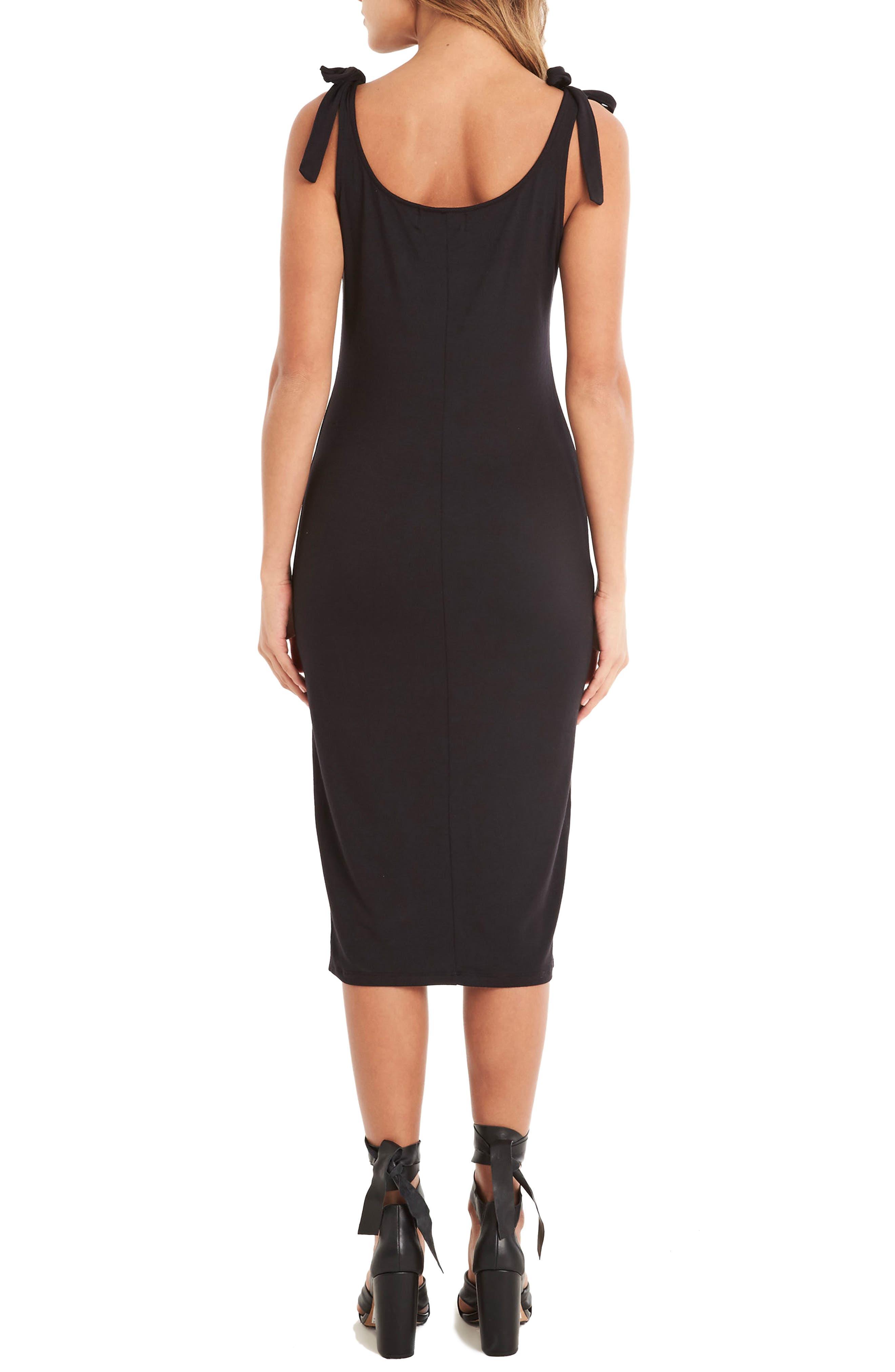 Midi Tank Dress,                             Alternate thumbnail 2, color,                             Black