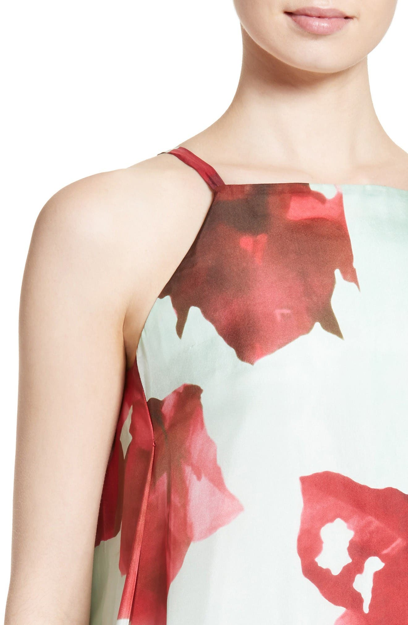Alternate Image 6  - Lafayette 148 New York Leonissa Print Silk Maxi Dress