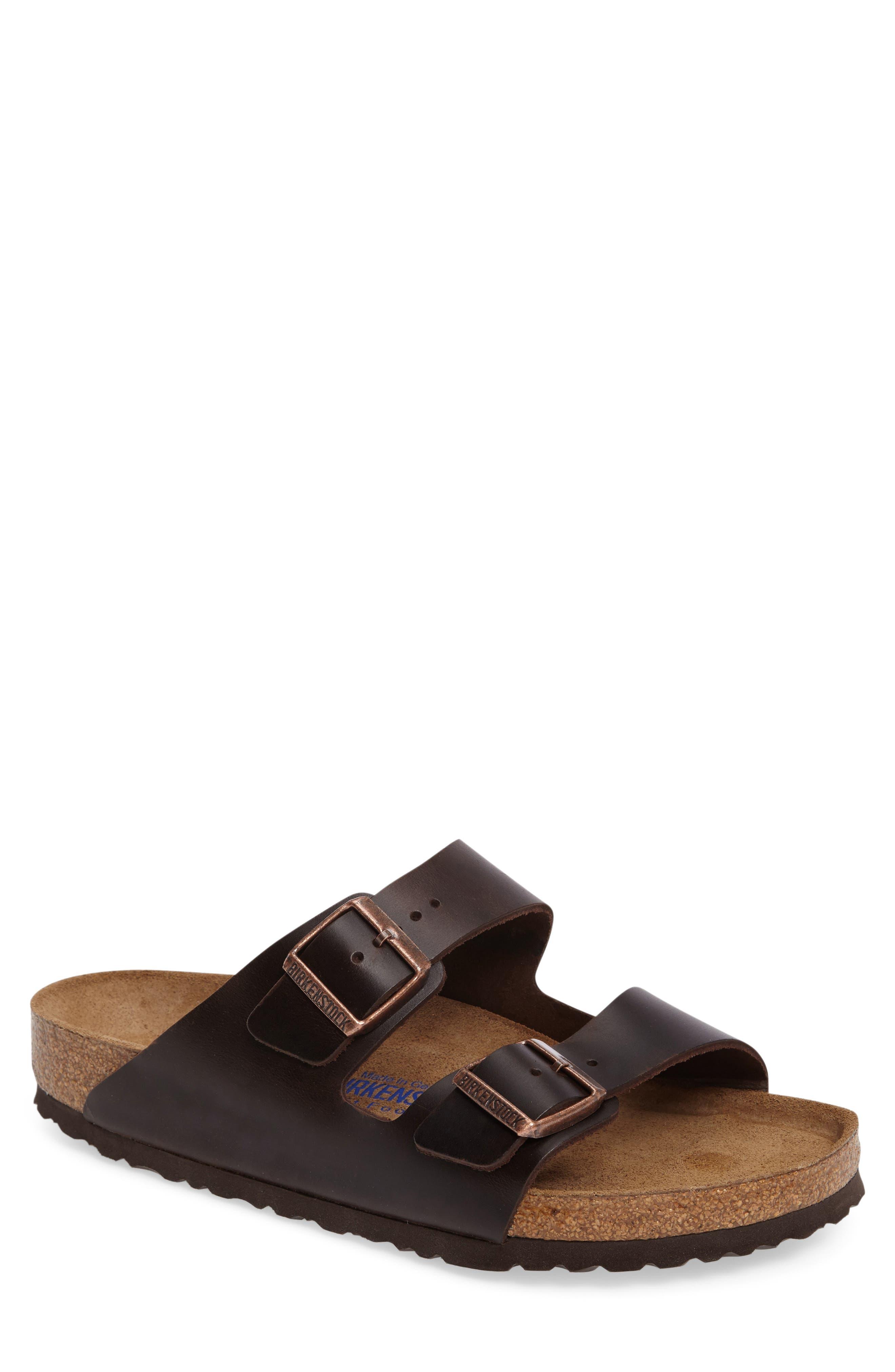 'Arizona Soft' Sandal,                             Main thumbnail 1, color,                             Brown