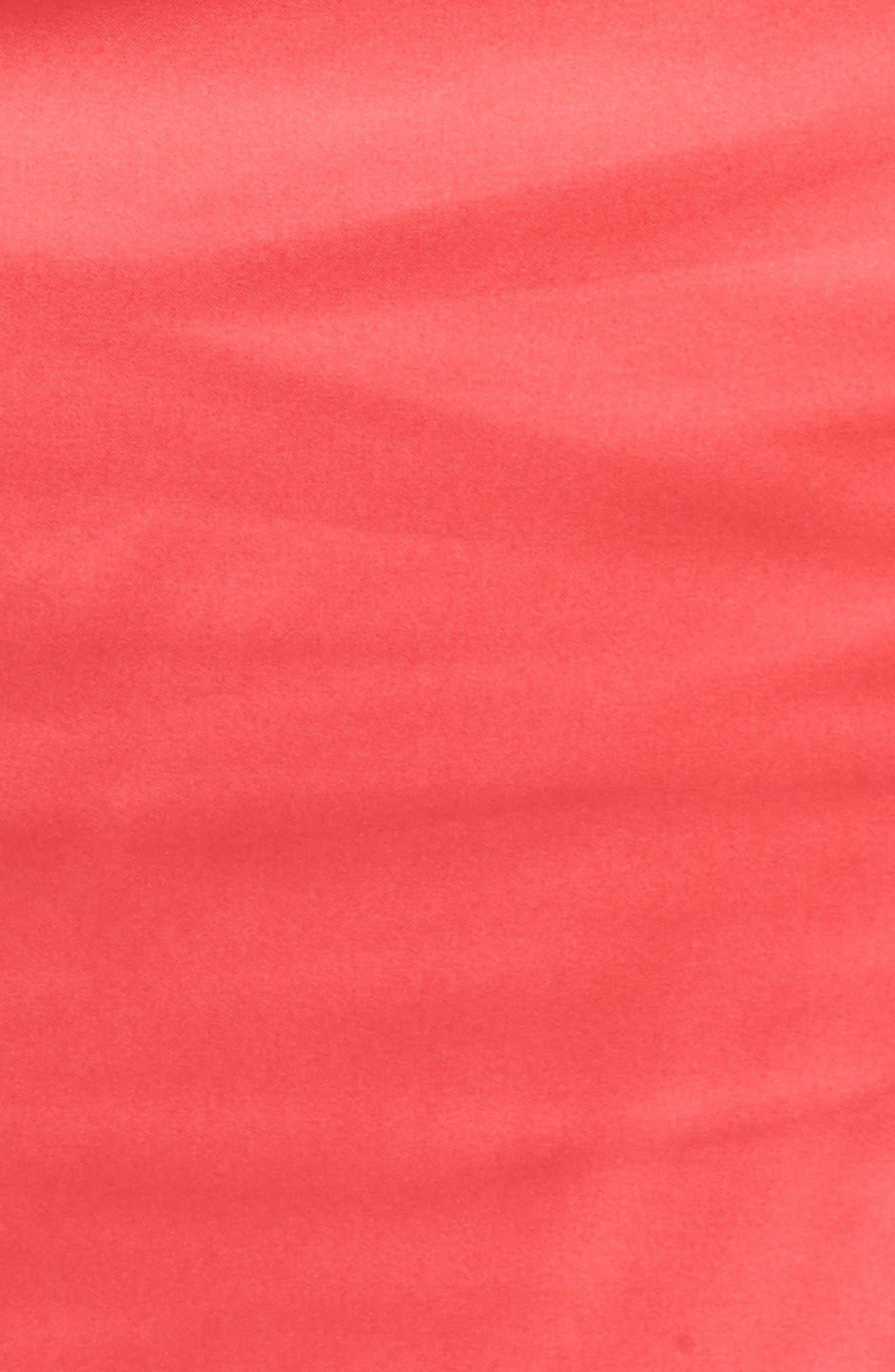 Collared Faux Wrap Dress,                             Alternate thumbnail 5, color,                             Geranium