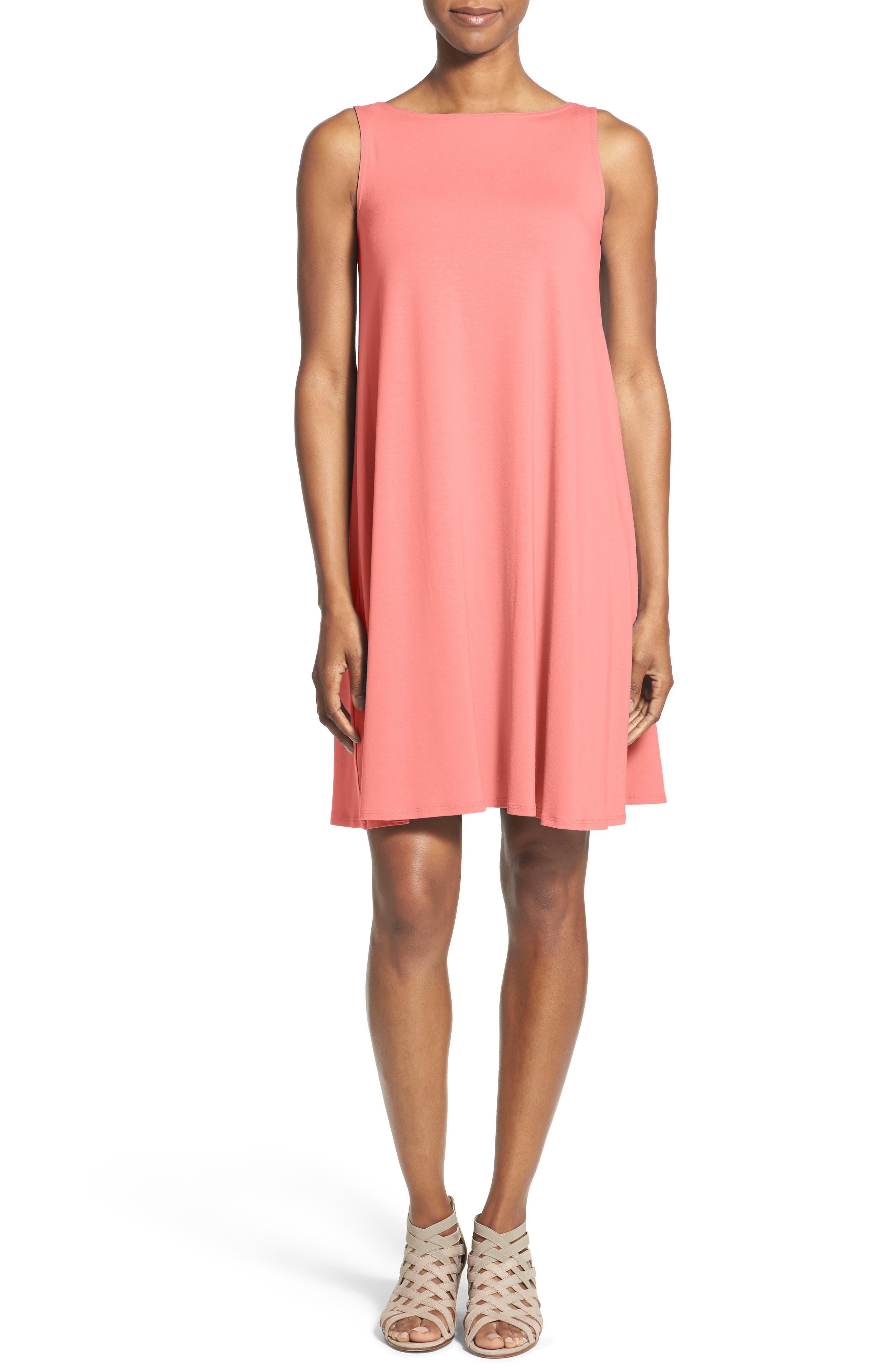 Eileen Fisher Lightweight Jersey Shift Dress (Regular & Petite) (Nordstrom Exclusive)