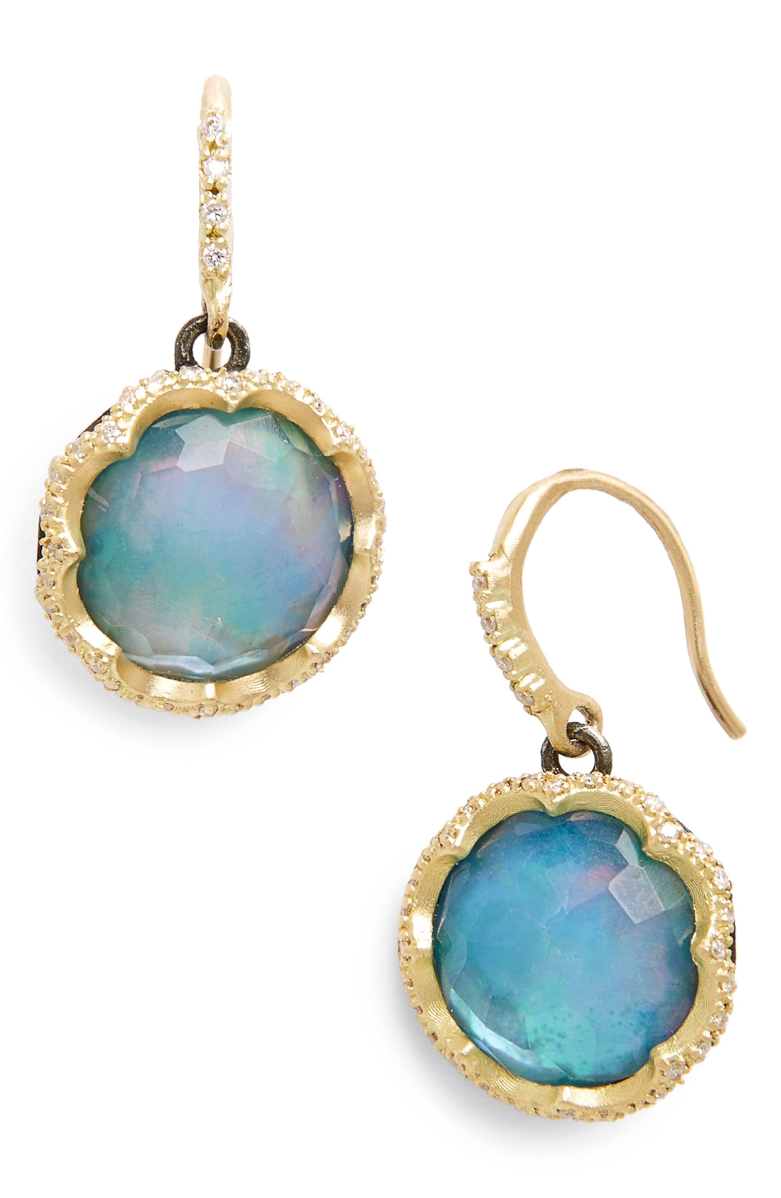 Old World Opal Drop Earrings,                         Main,                         color, Gold