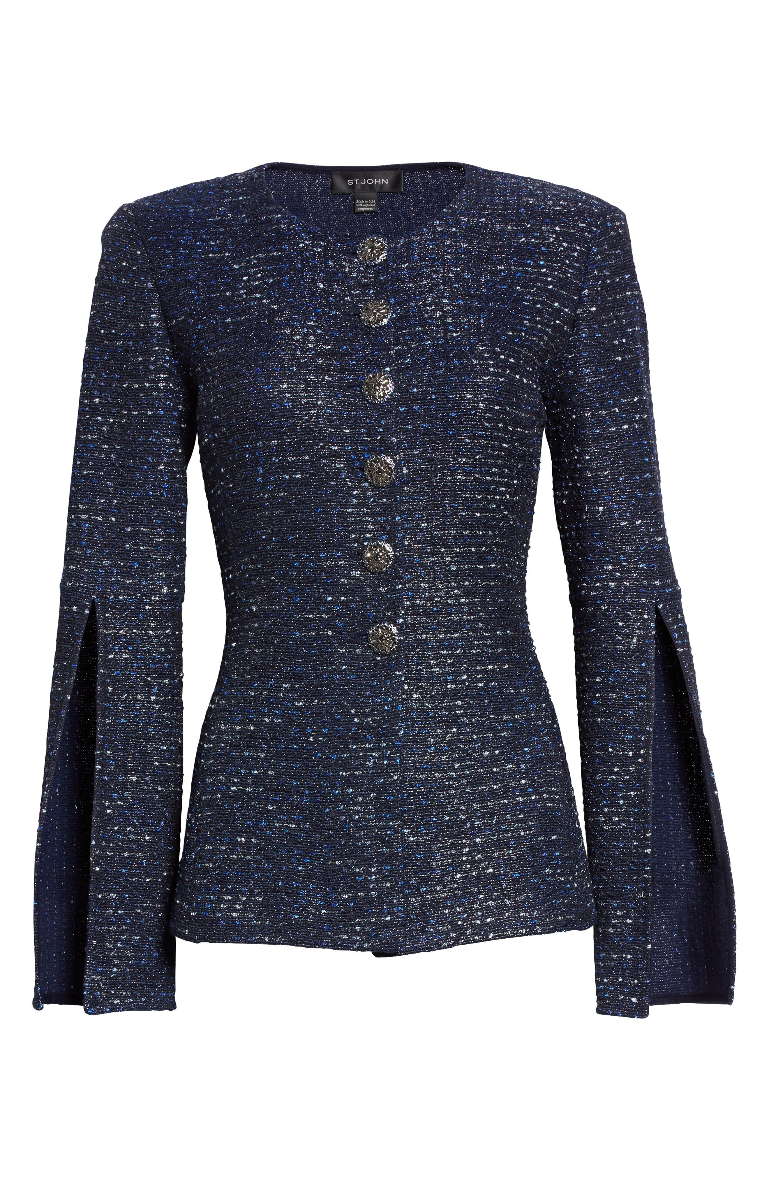 Alternate Image 6  - St. John Collection Alisha Sparkle Tweed Jacket