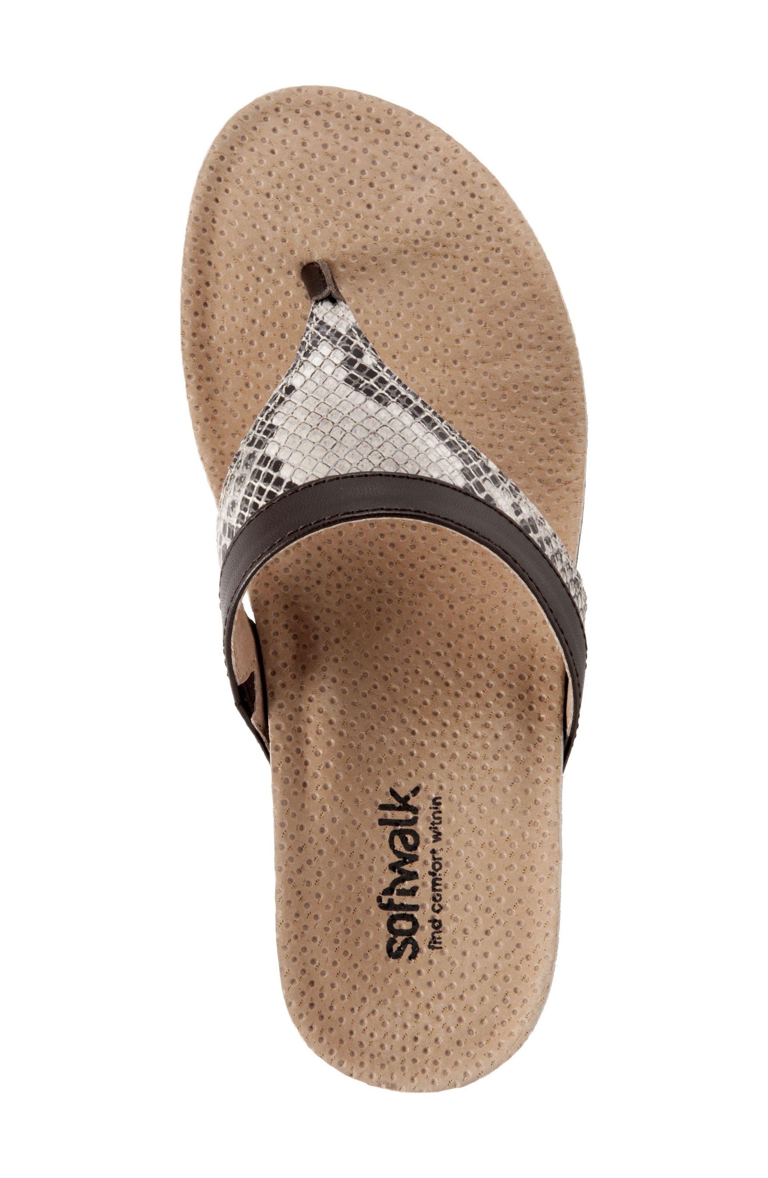 Heights Wedge Slide Sandal,                             Alternate thumbnail 3, color,                             Brown Leather