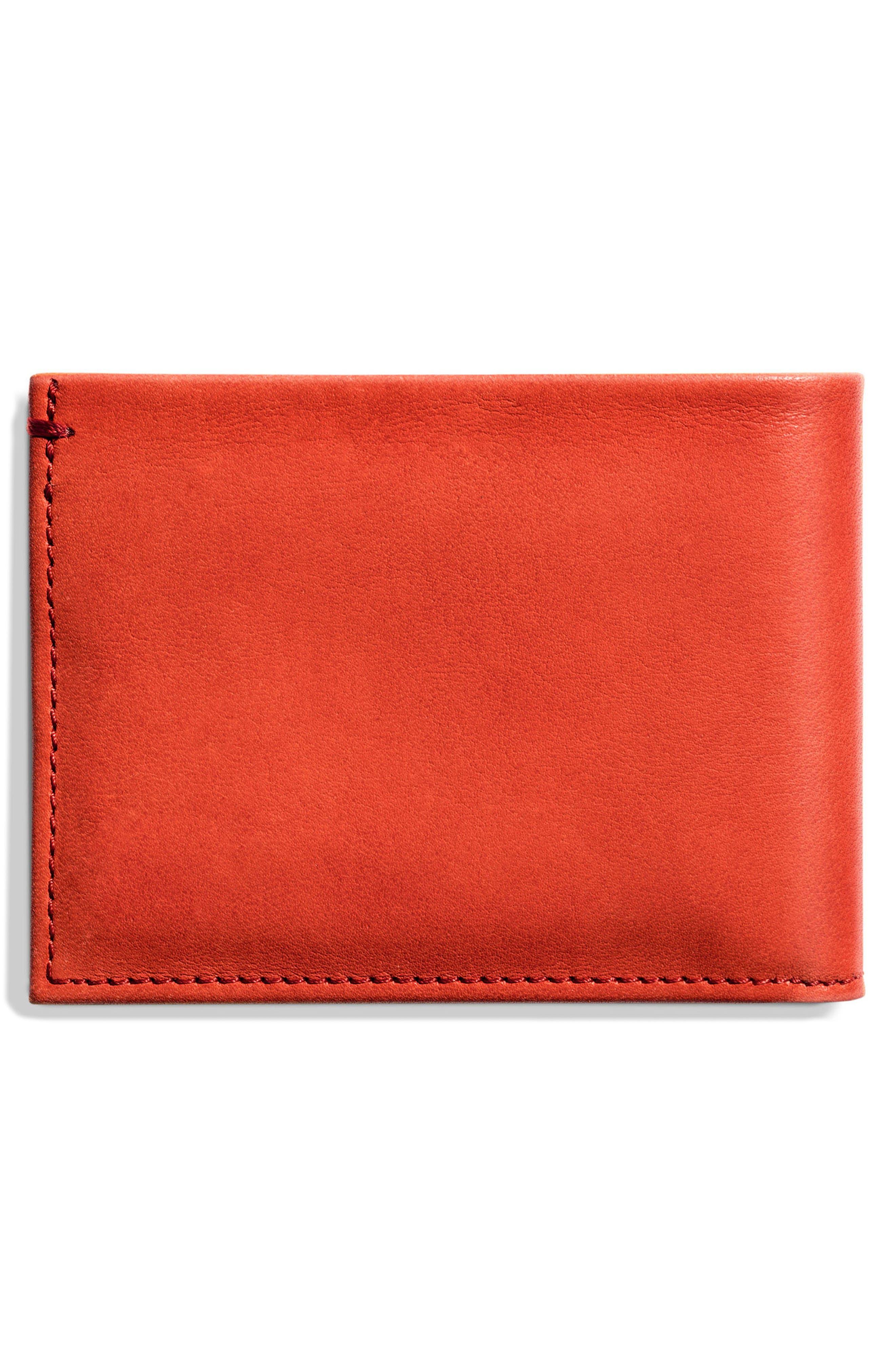 Alternate Image 3  - Shinola Slim Bifold Leather Wallet