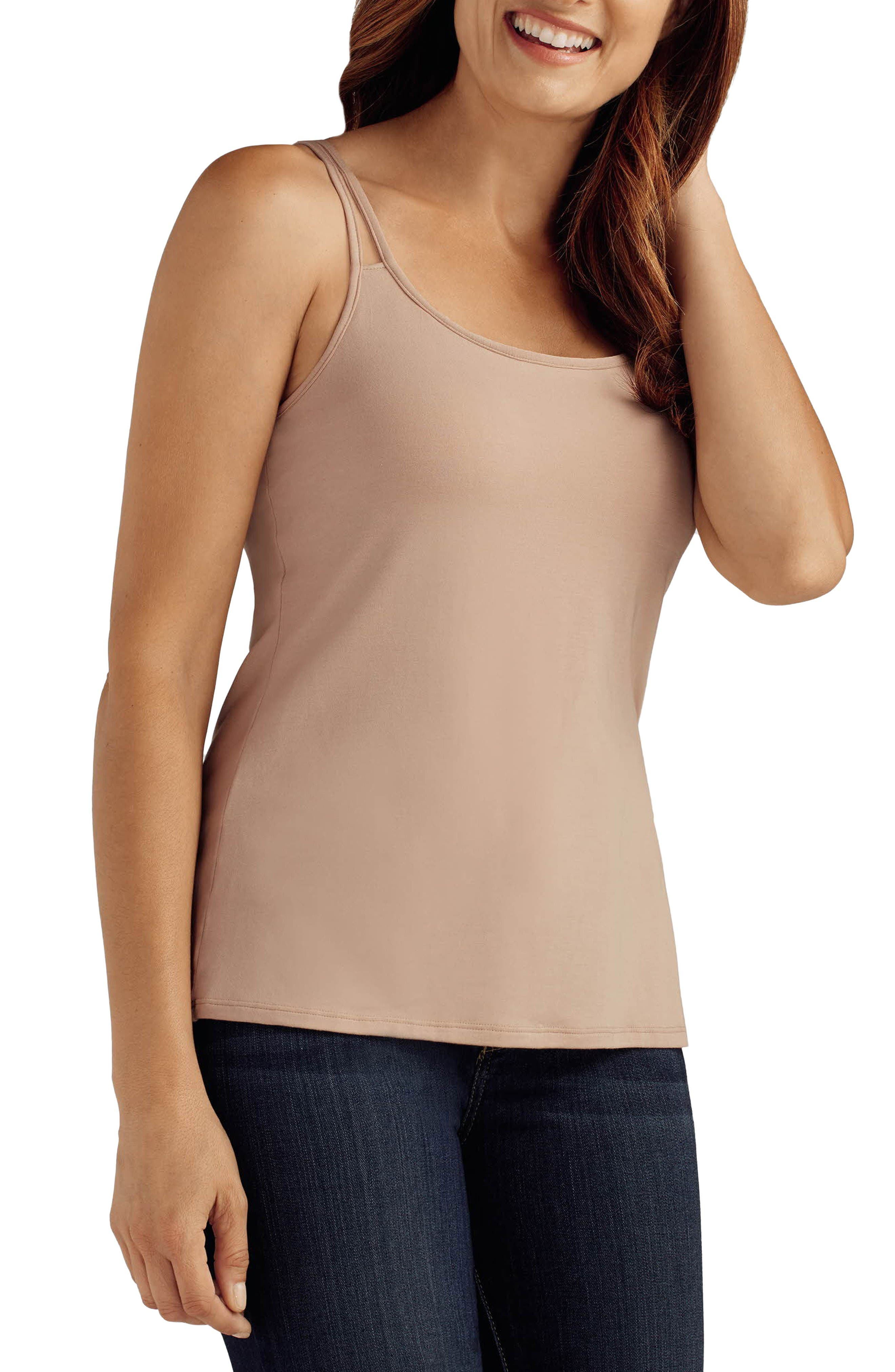 'Valetta' Pocketed Tank,                         Main,                         color, Nude