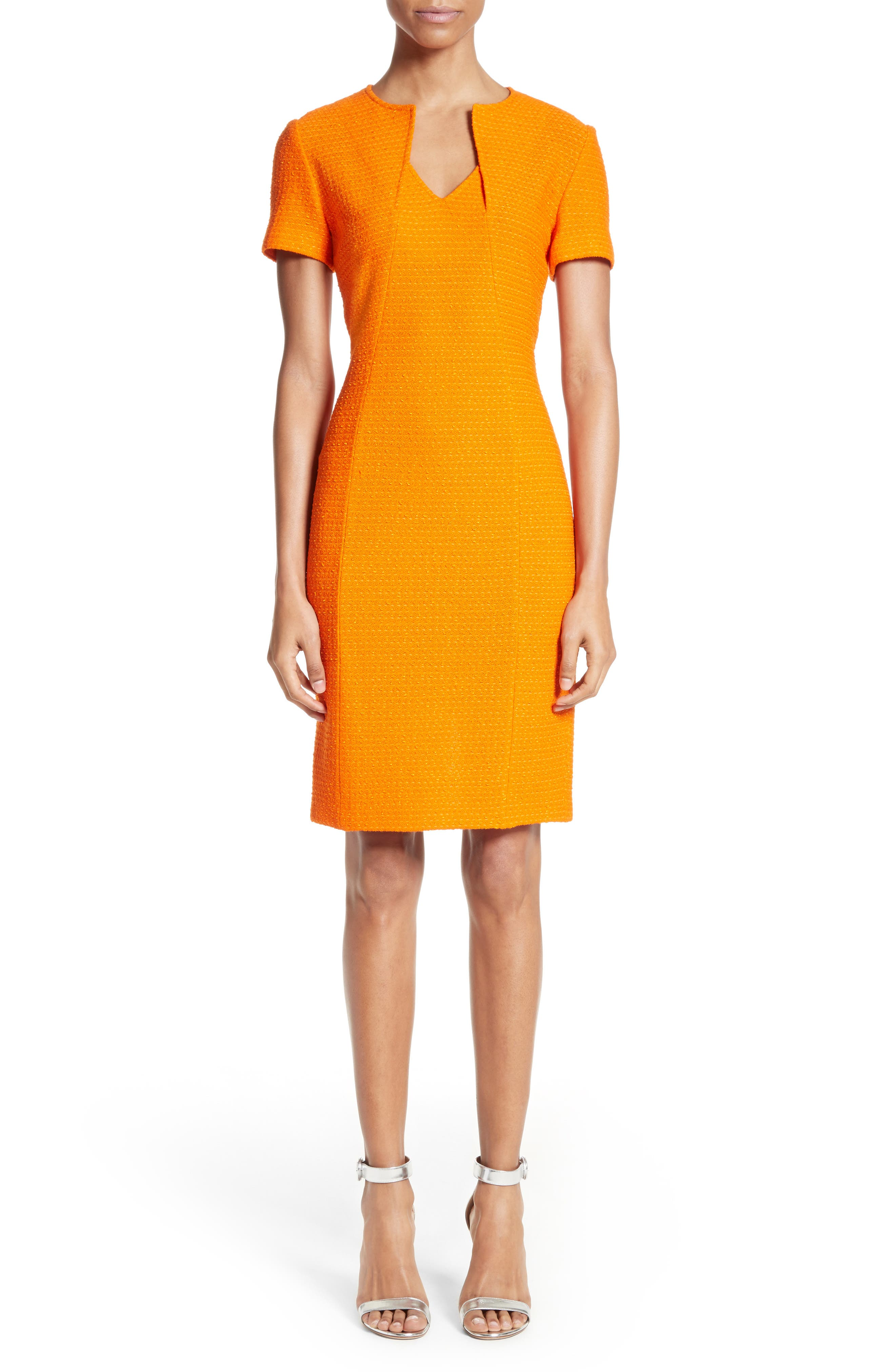 St. John Collection Ribbon Texture Knit Dress