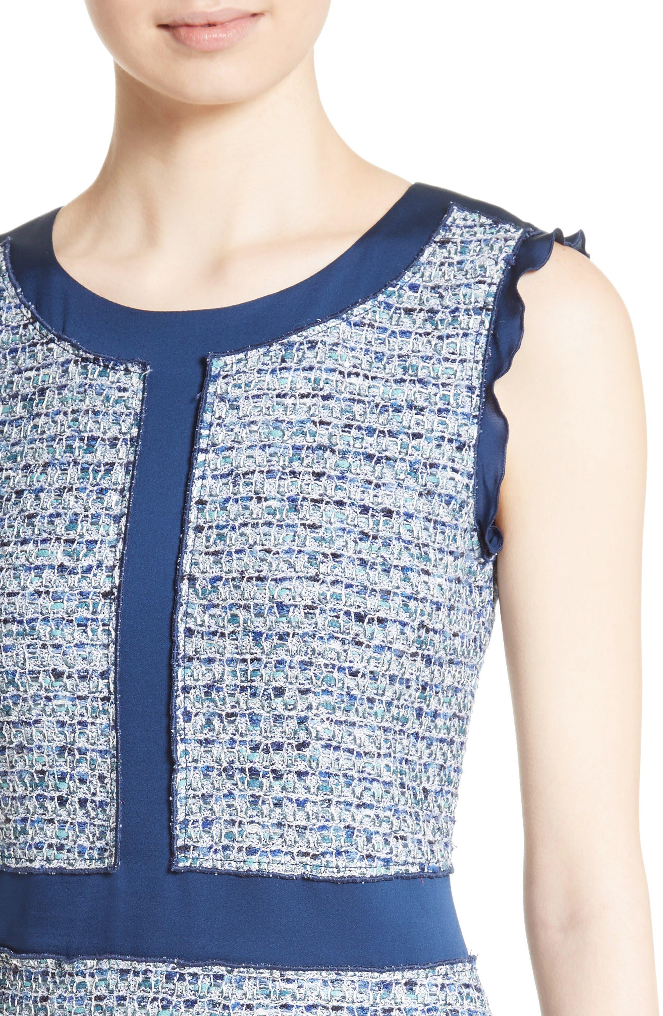 Alternate Image 4  - St. John Collection Kiara Tweed A-Line Dress