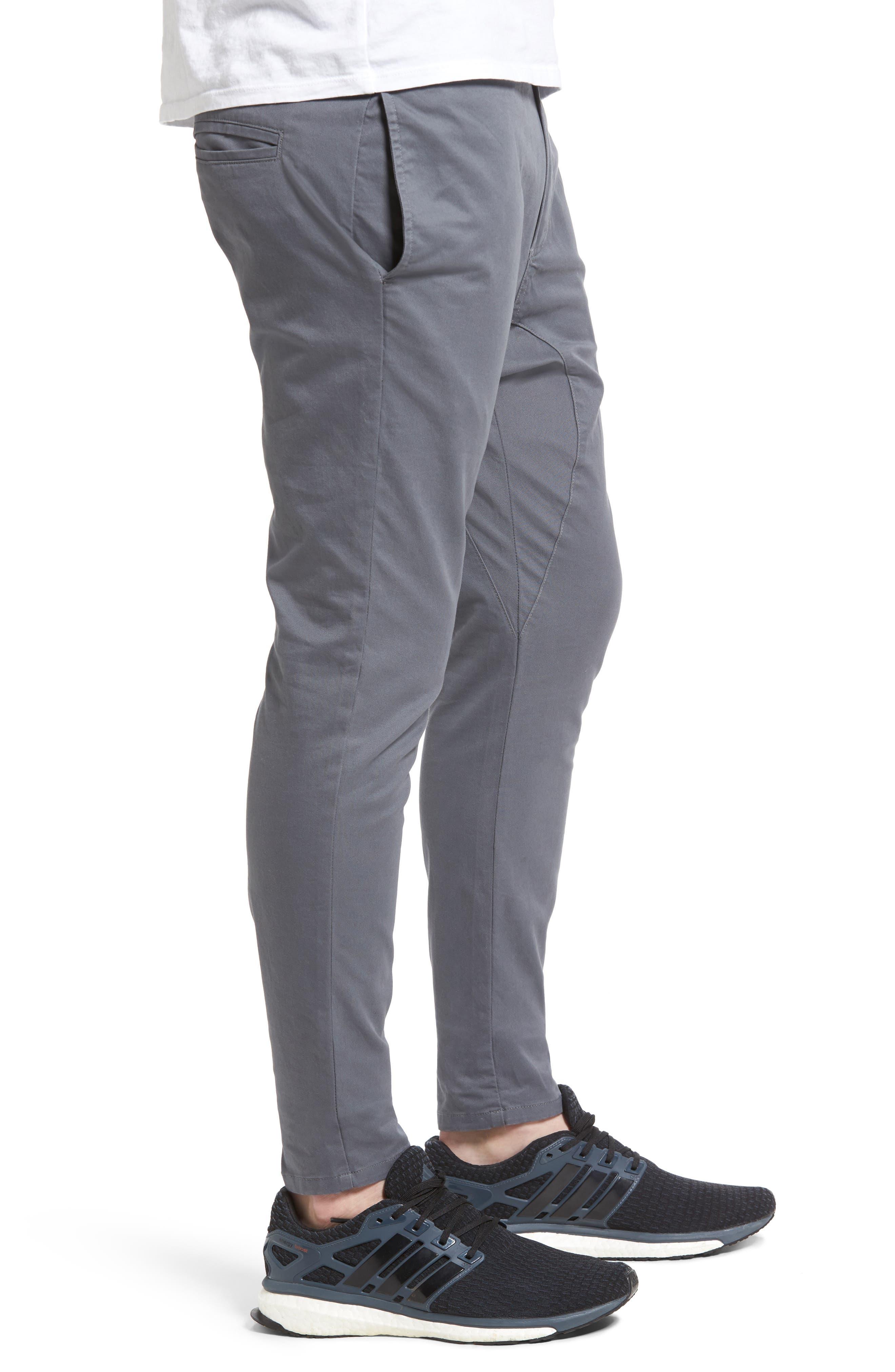 Salerno Stretch Woven Jogger Pants,                             Alternate thumbnail 3, color,                             Grey