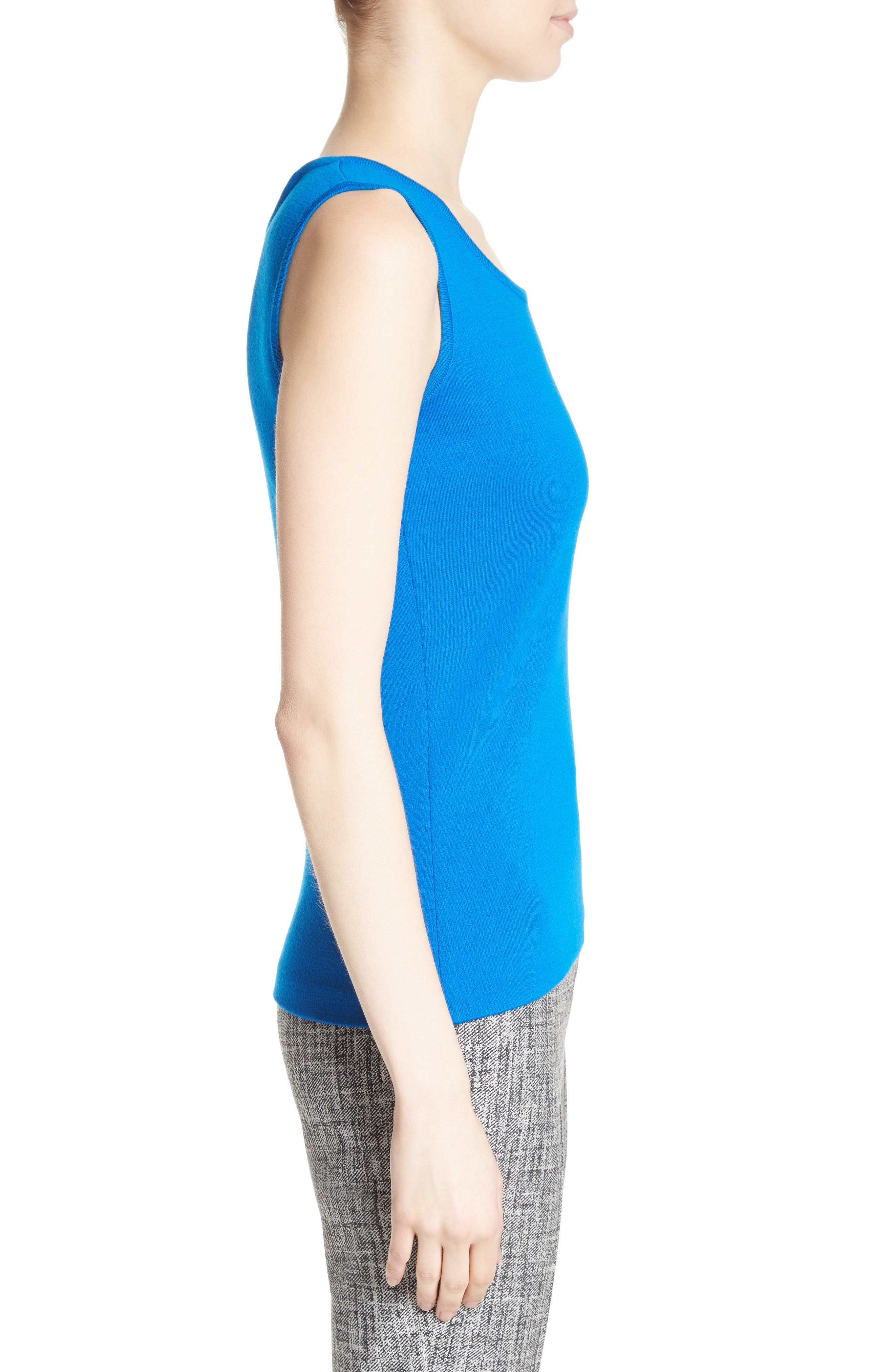 Alternate Image 3  - St. John Collection Milano Knit Contour Shell