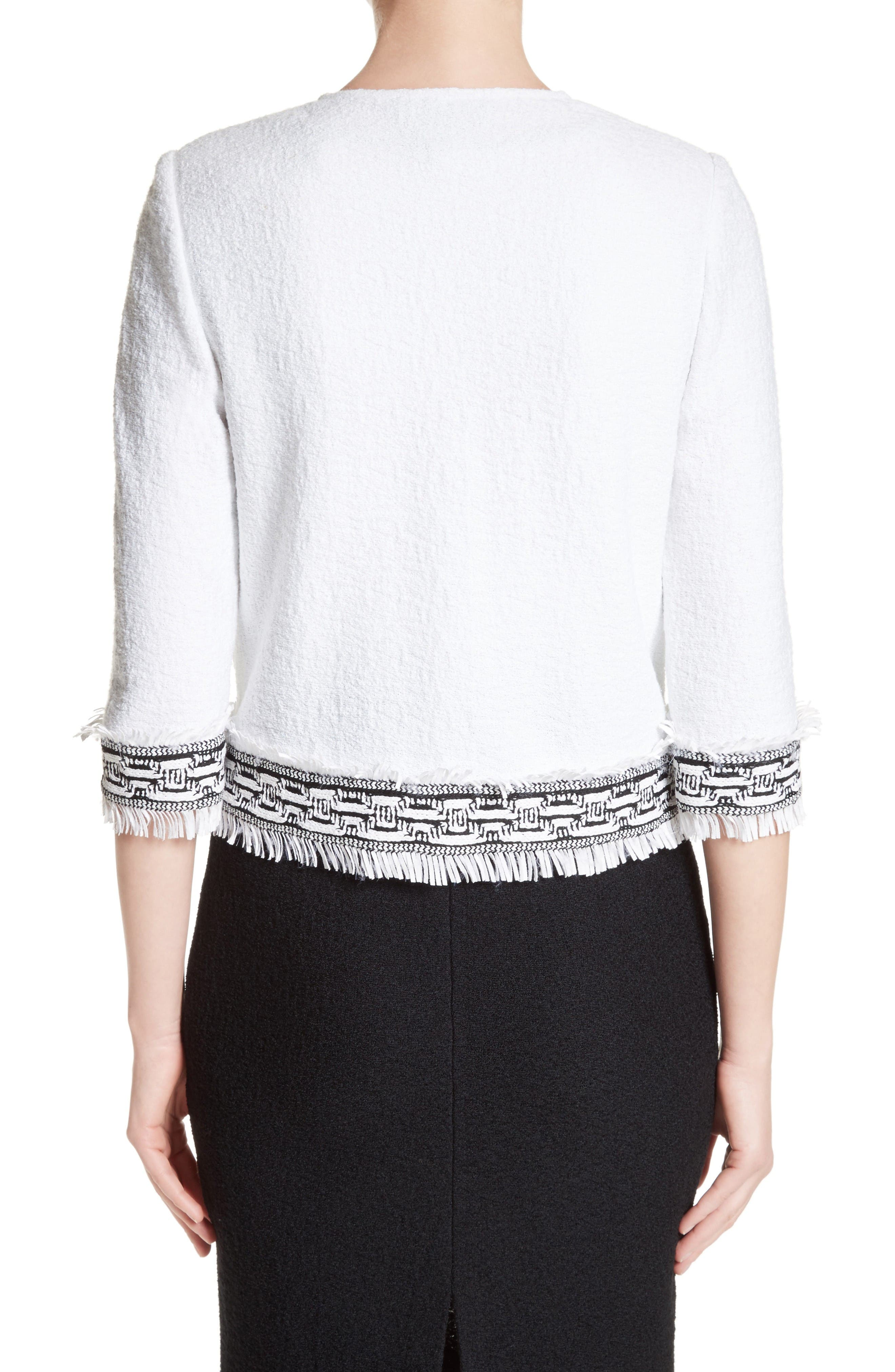 Alternate Image 2  - St. John Collection Fringe Clair Knit Jacket
