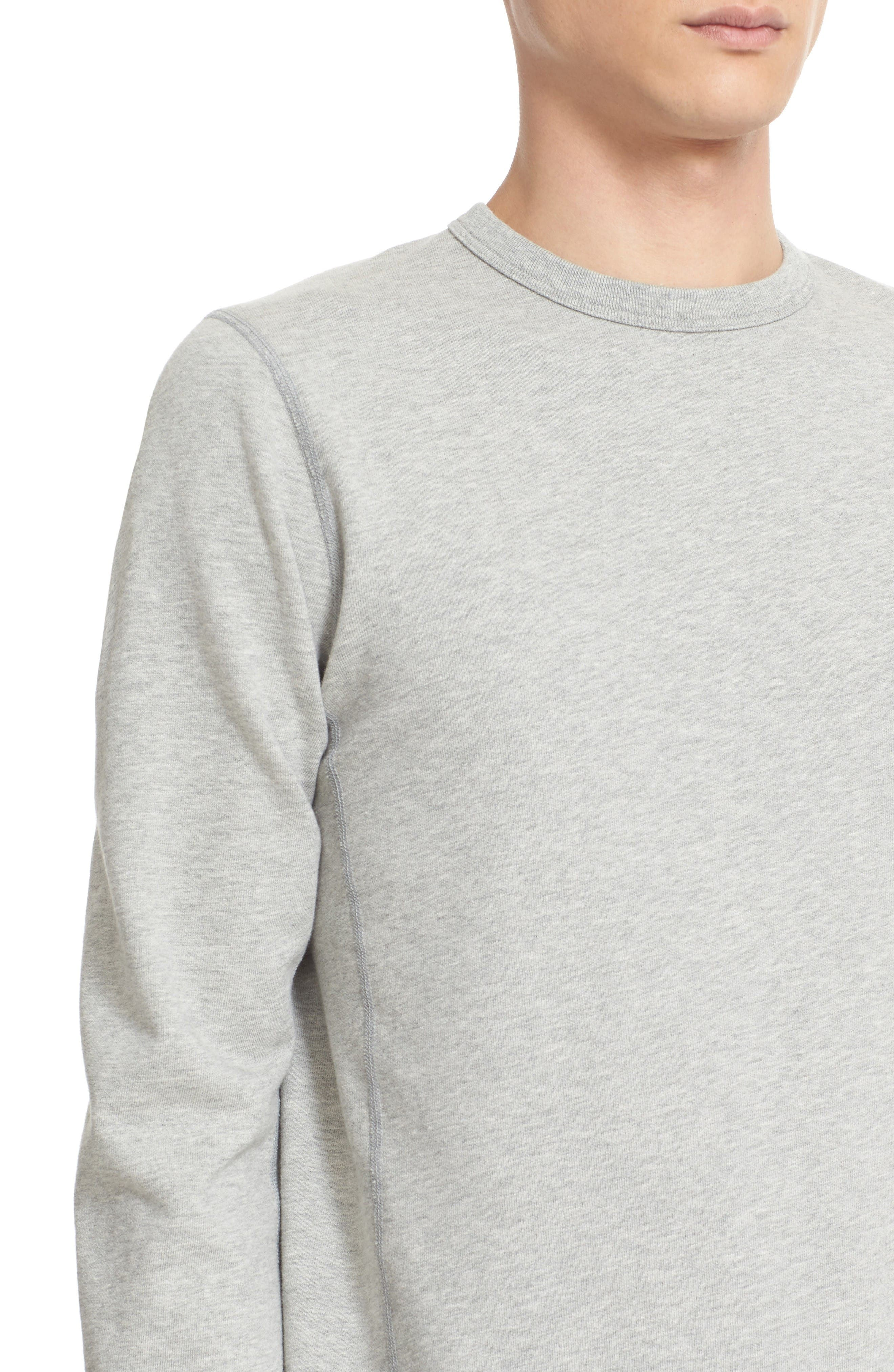 French Terry Sweatshirt,                             Alternate thumbnail 4, color,                             Heather Grey