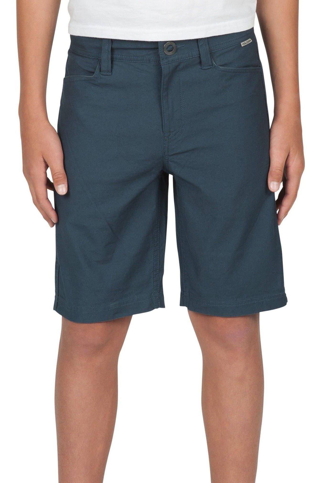 Main Image - Volcom VSM Gritter Chino Shorts (Big Boys)