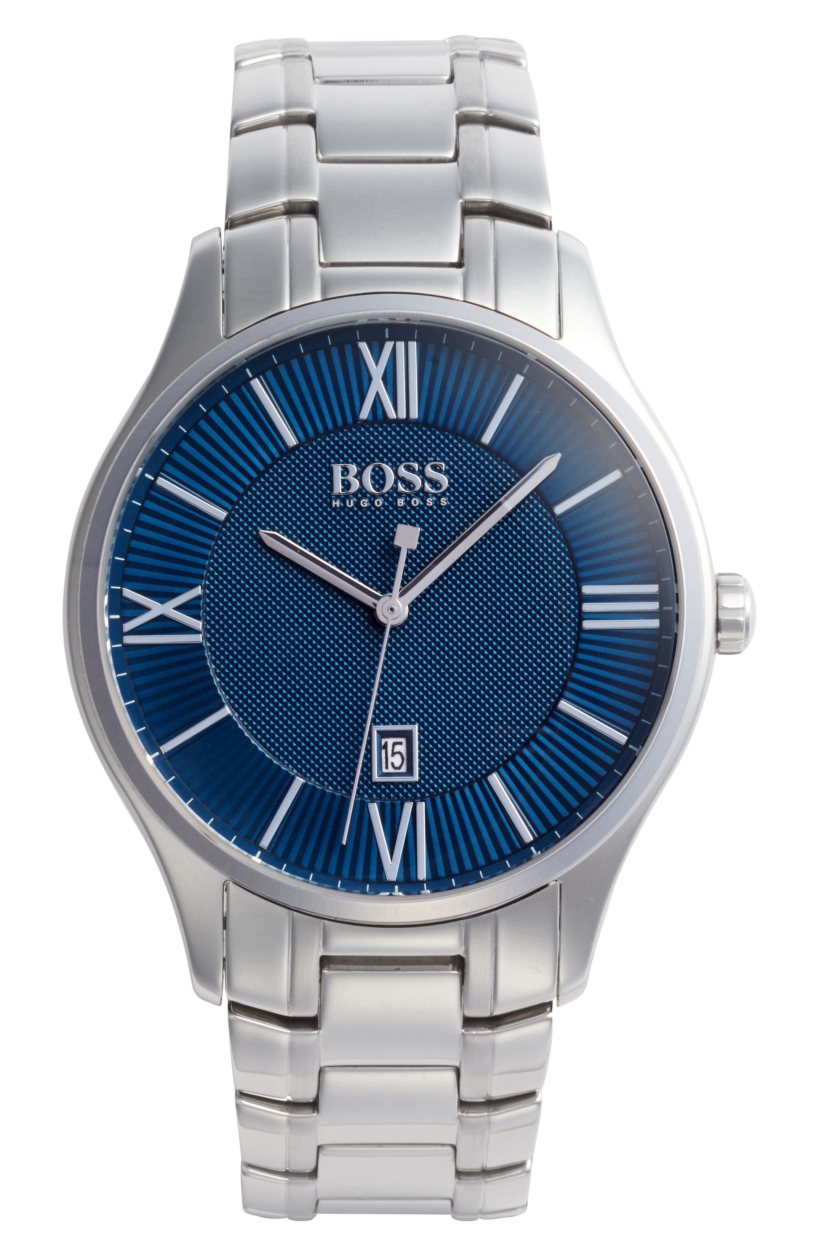 Main Image - BOSS Governor Bracelet Watch, 44mm