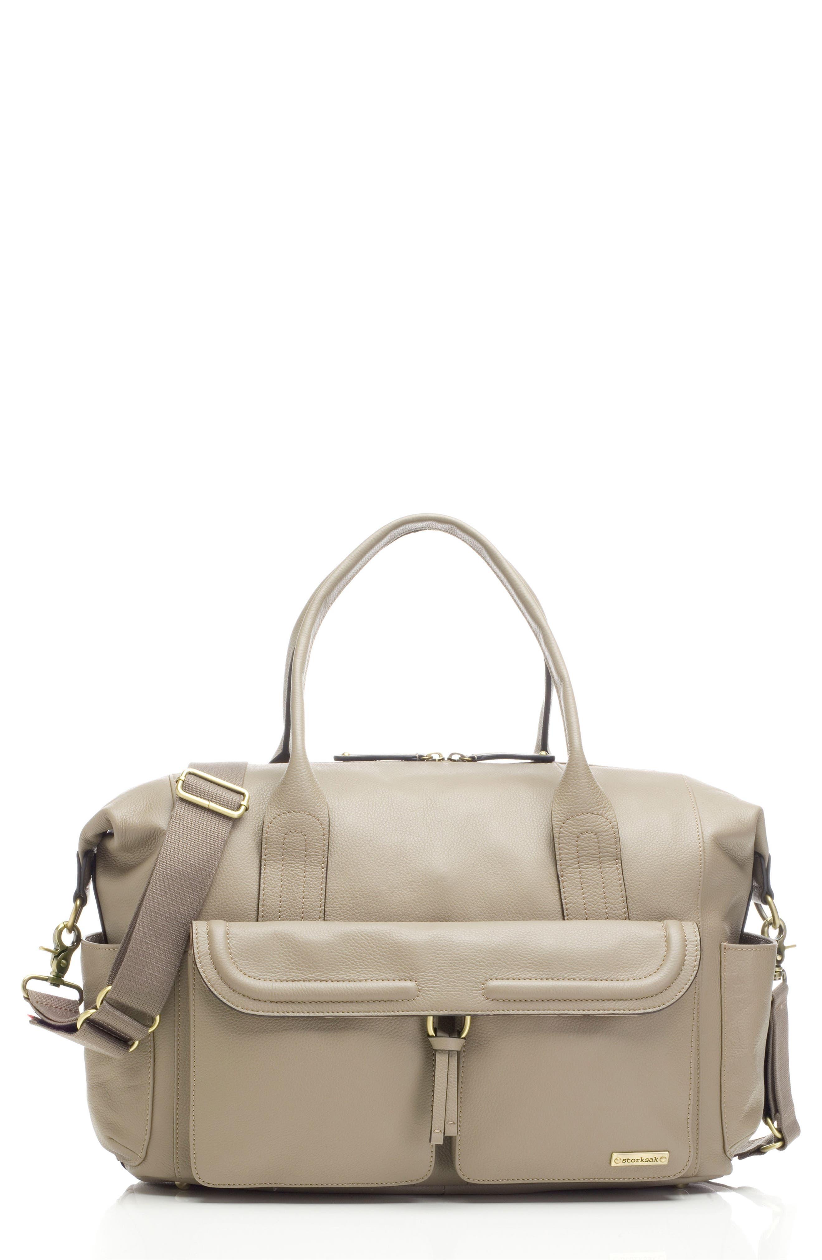 Main Image - Storsak Leather Diaper Bag