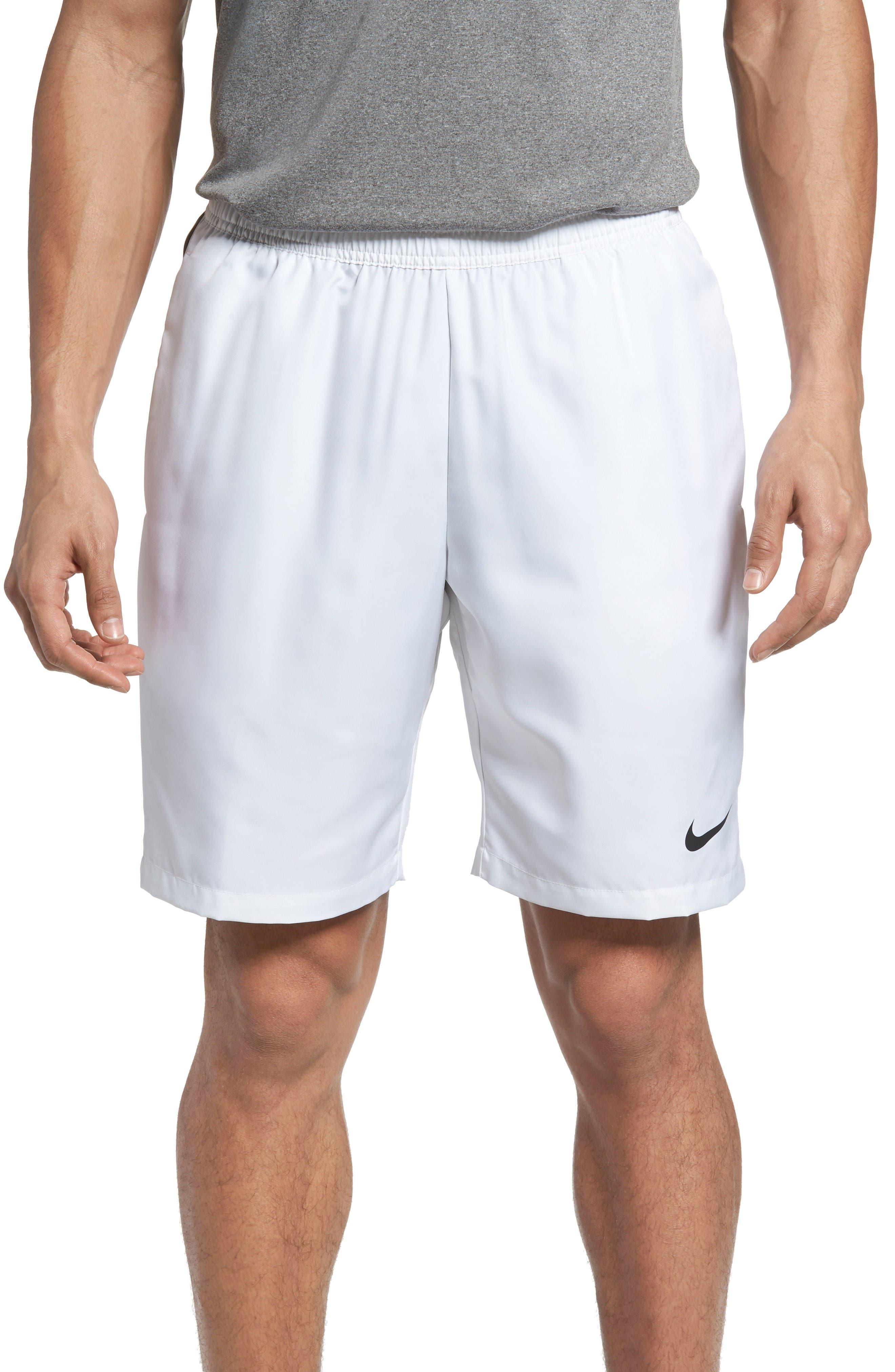 Tennis Shorts,                         Main,                         color, White/ Black