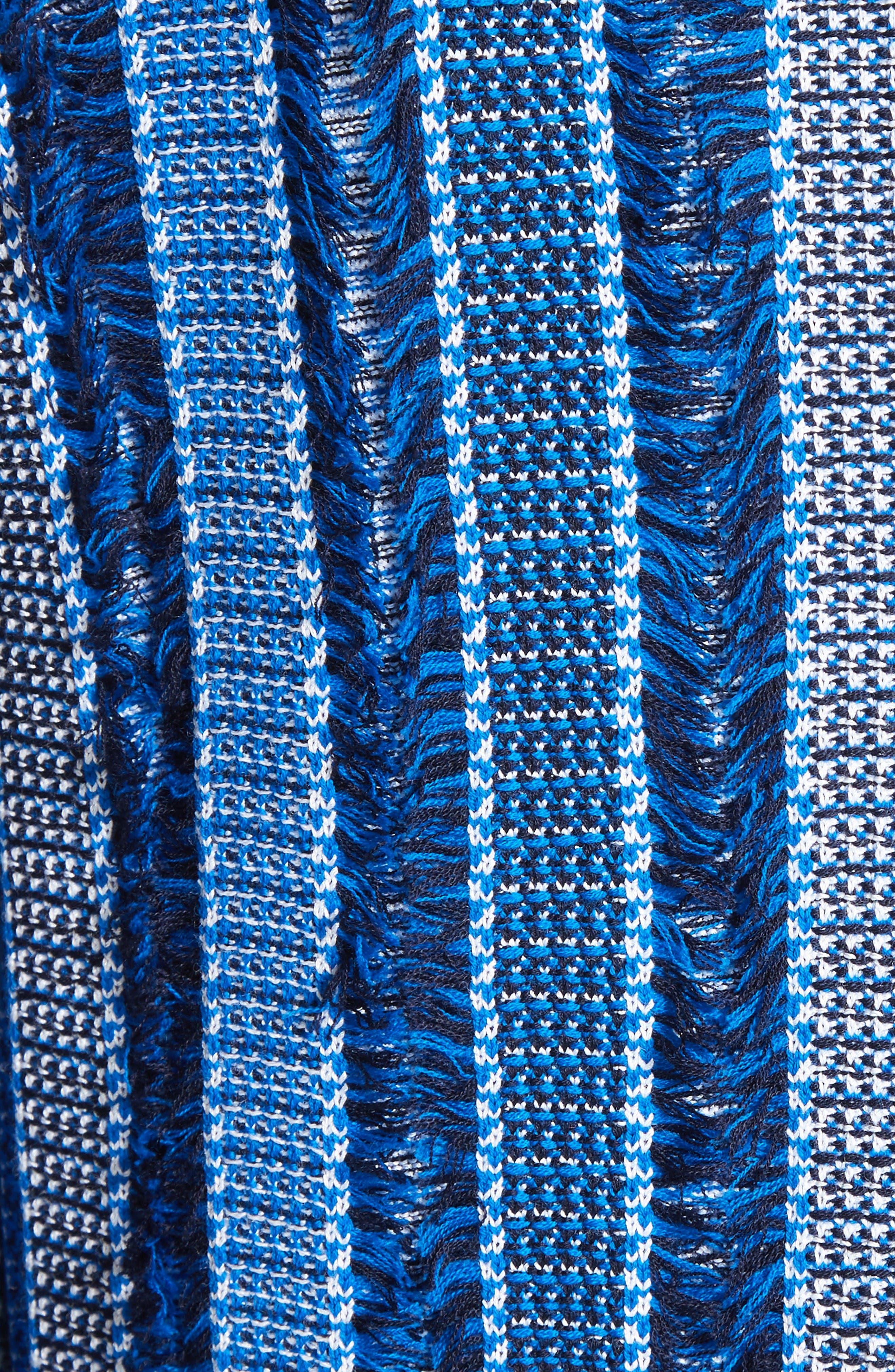 Damik Fil Coupé Knit Jacket,                             Alternate thumbnail 5, color,                             Jaya Blue Multi
