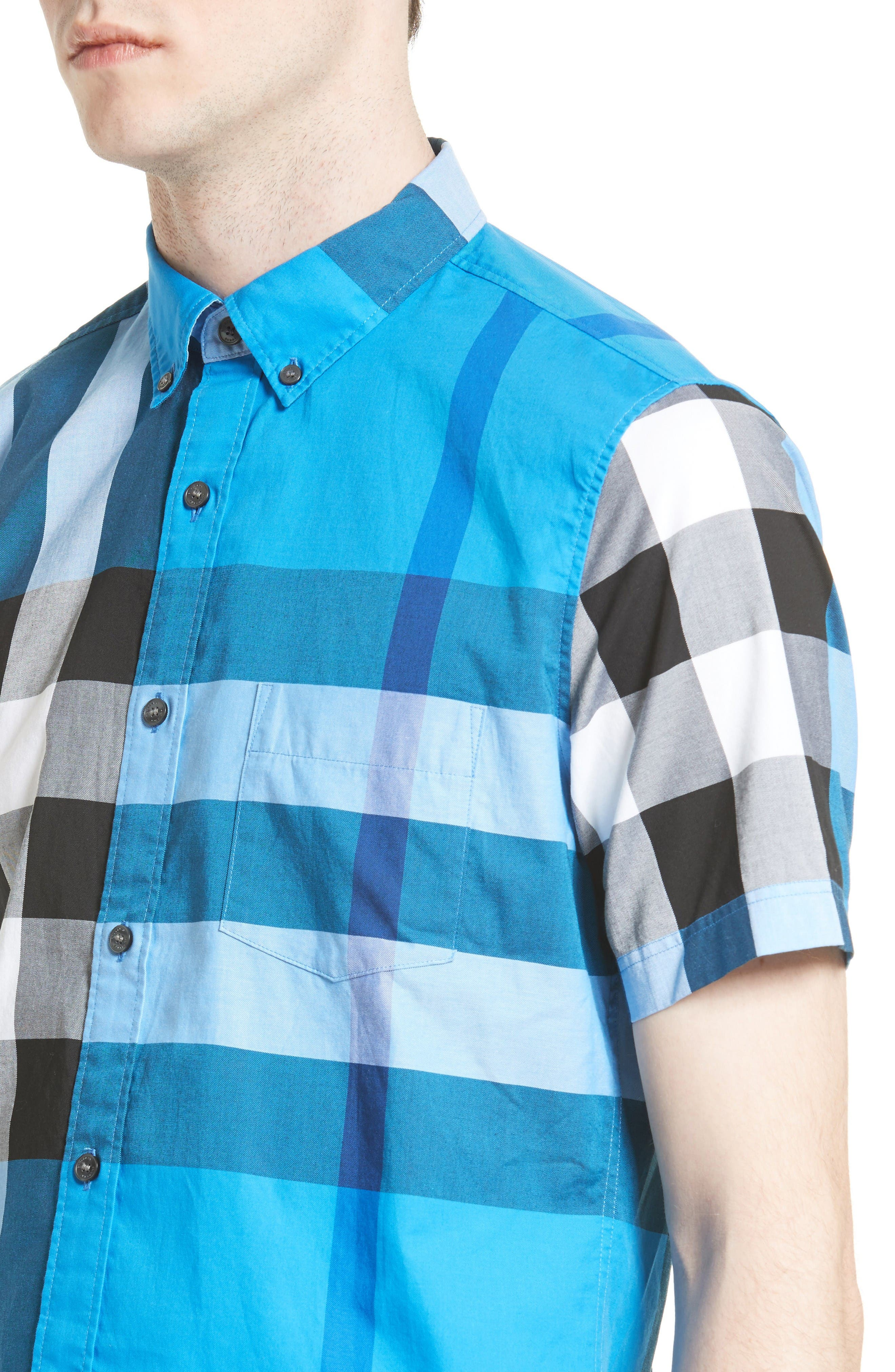 Alternate Image 4  - Burberry Fred Check Sport Shirt